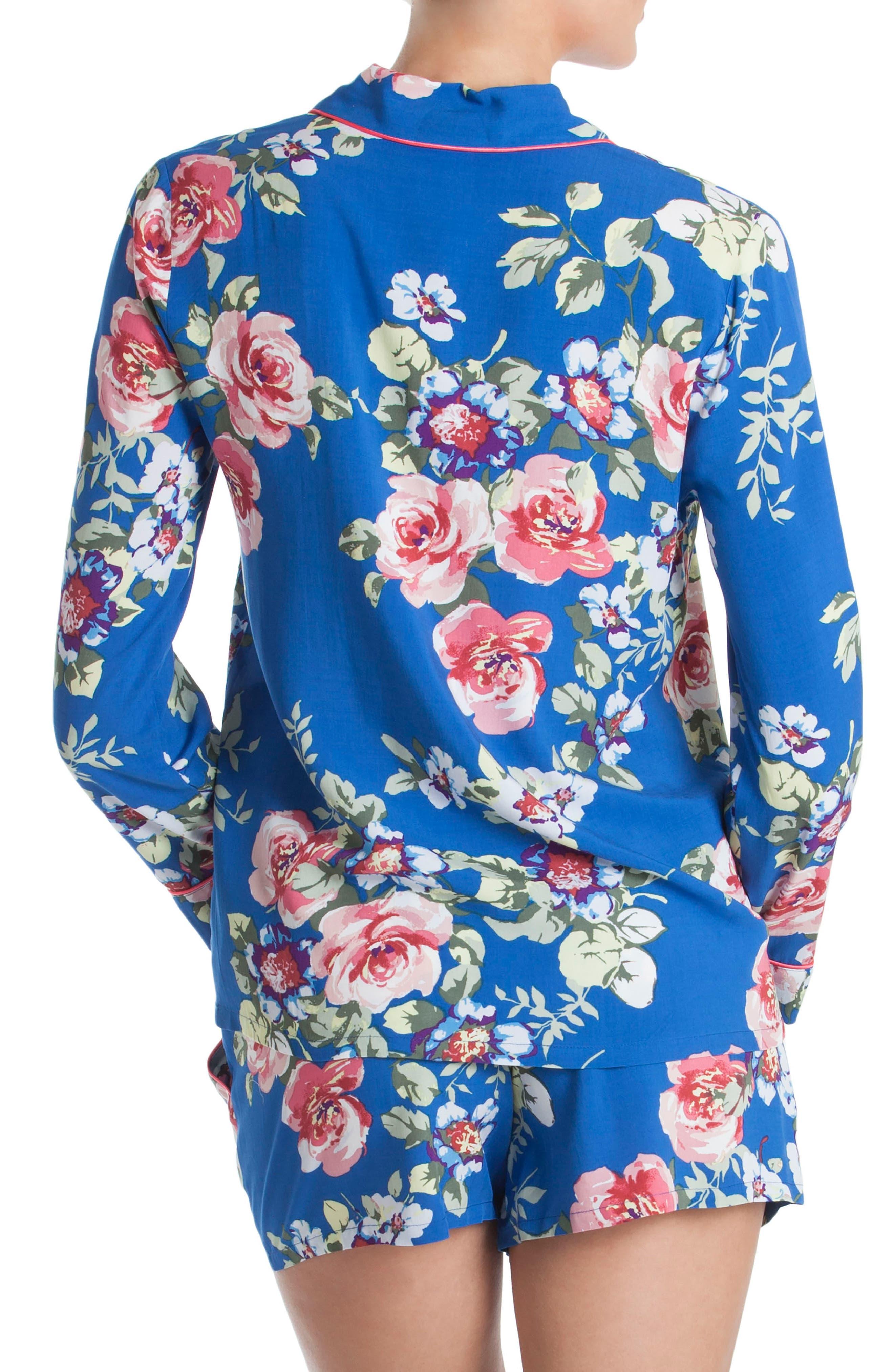 Short Pajamas,                             Alternate thumbnail 2, color,                             Blue Floral