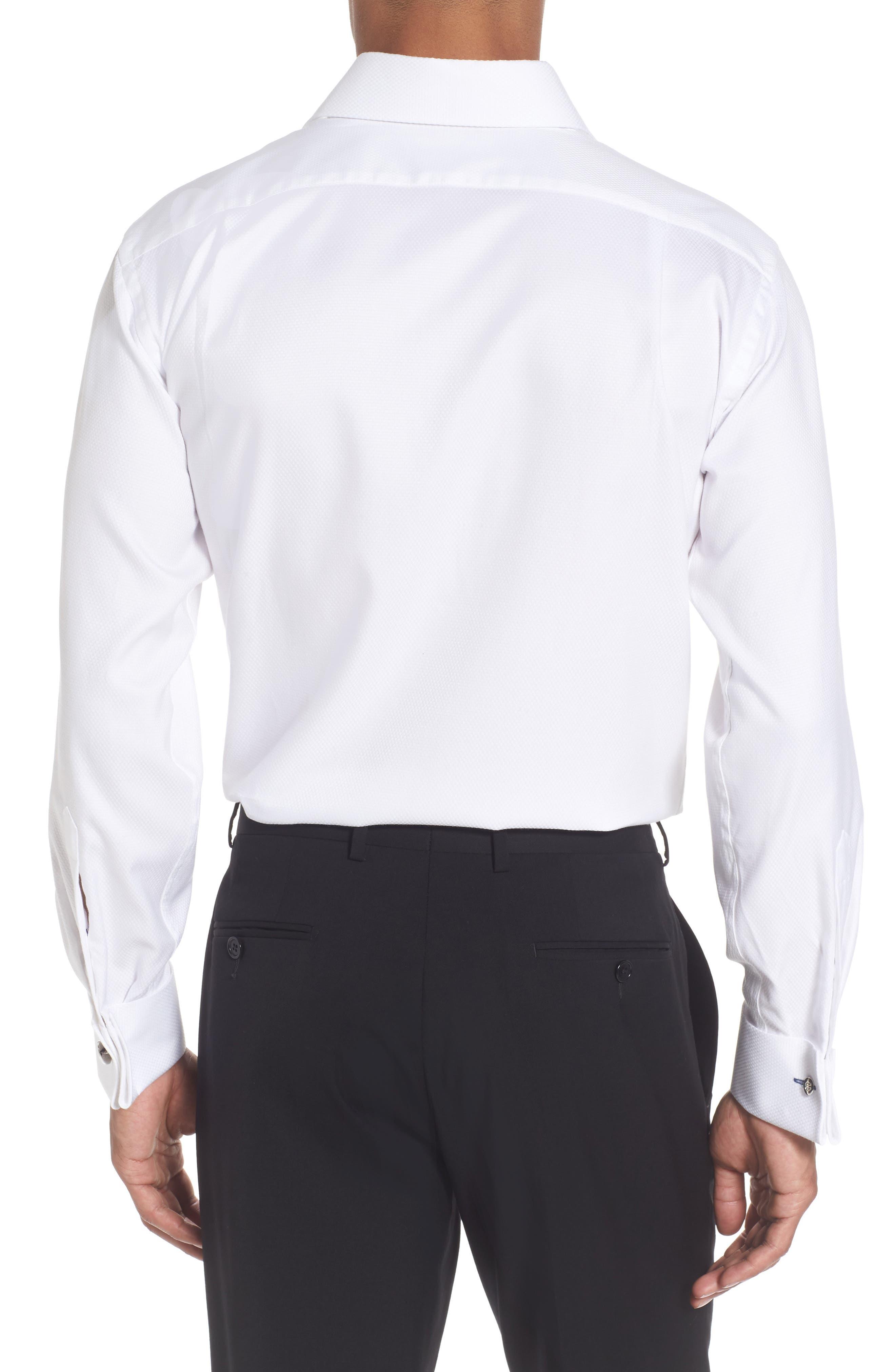Alternate Image 3  - Lorenzo Uomo Trim Fit Solid Dress Shirt