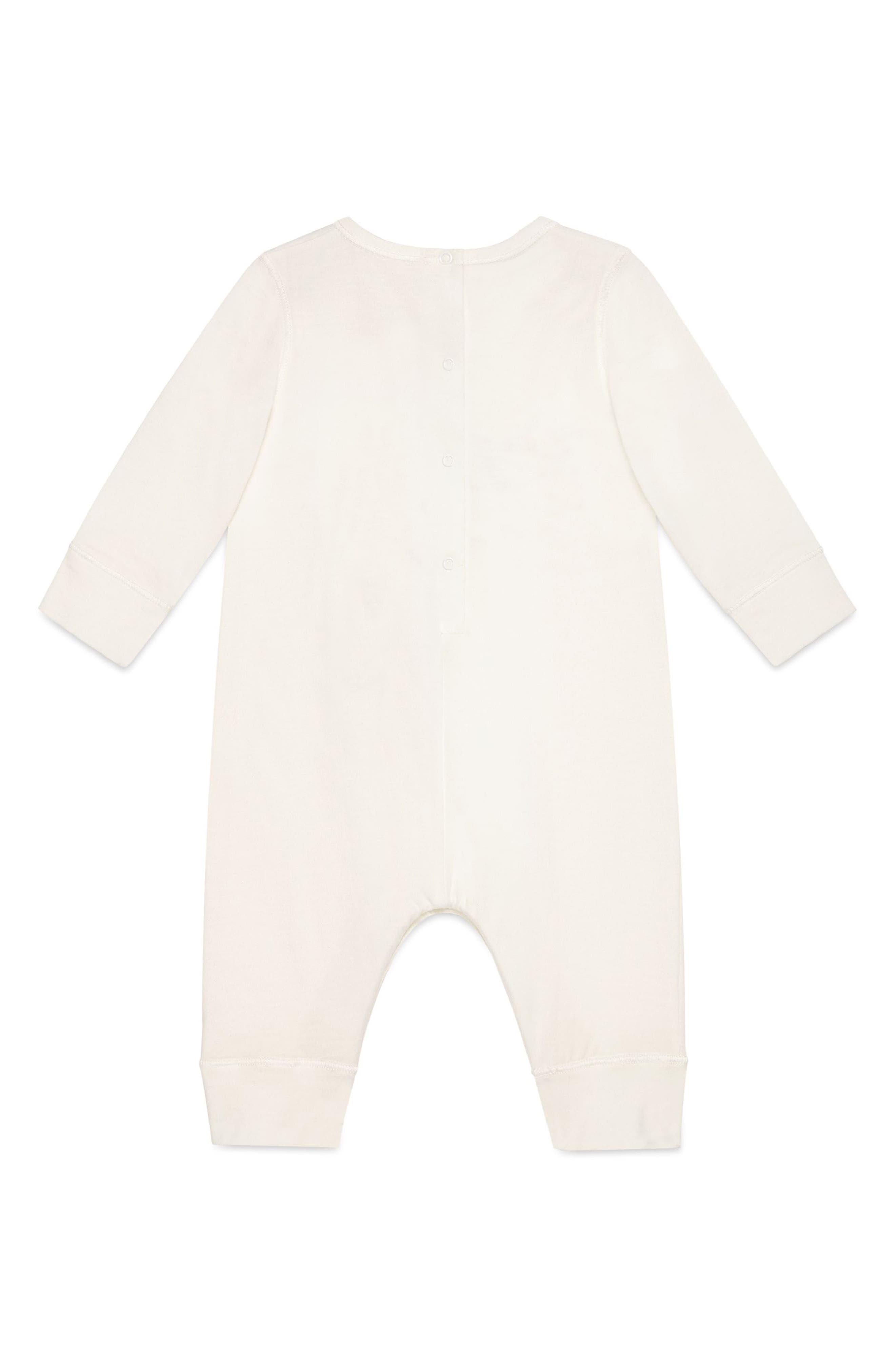 Alternate Image 2  - Gucci Dove Graphic Cotton Romper (Baby Girls)