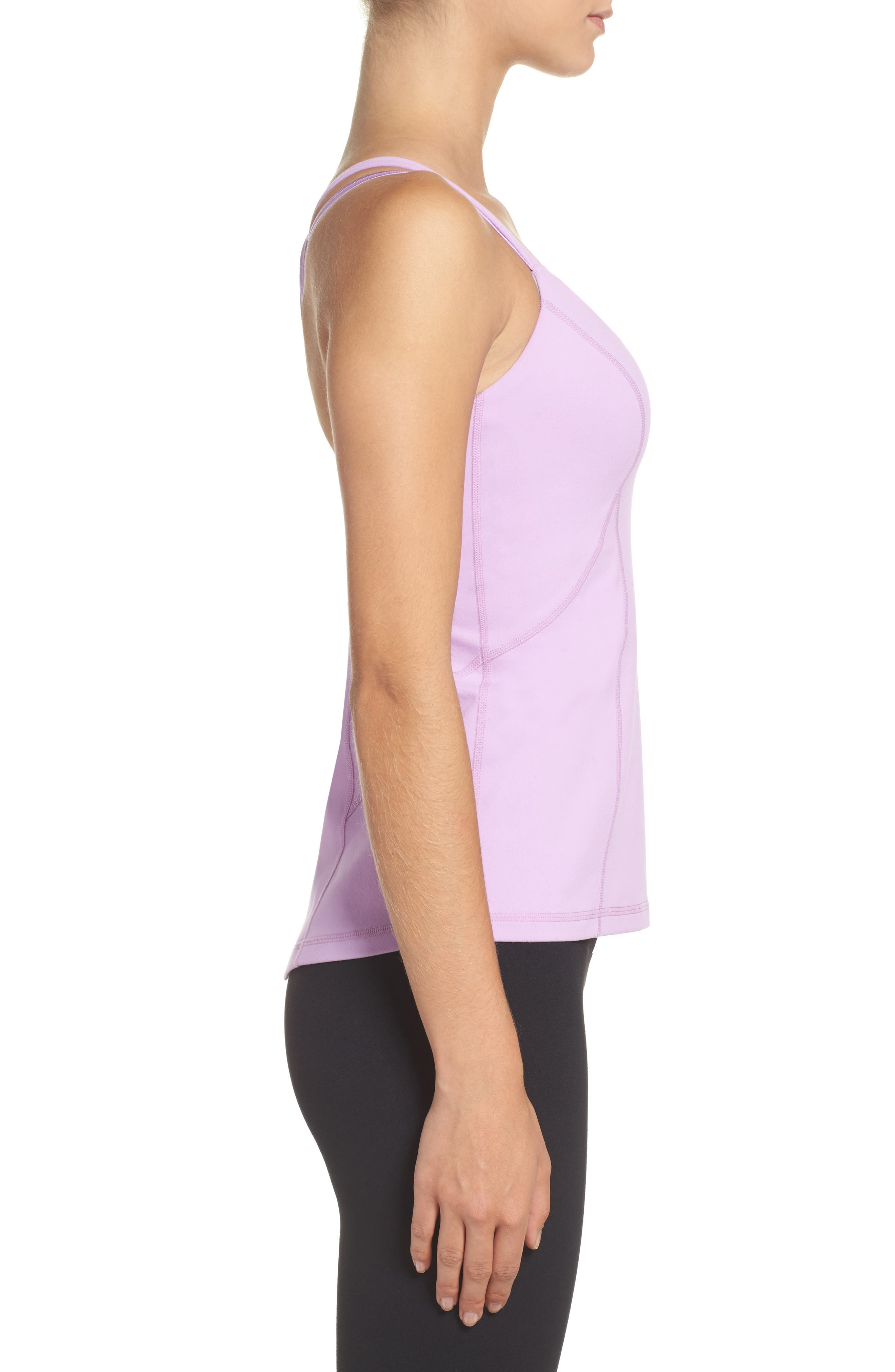Bringing Strappy Back Tank,                             Alternate thumbnail 2, color,                             Purple Sheer