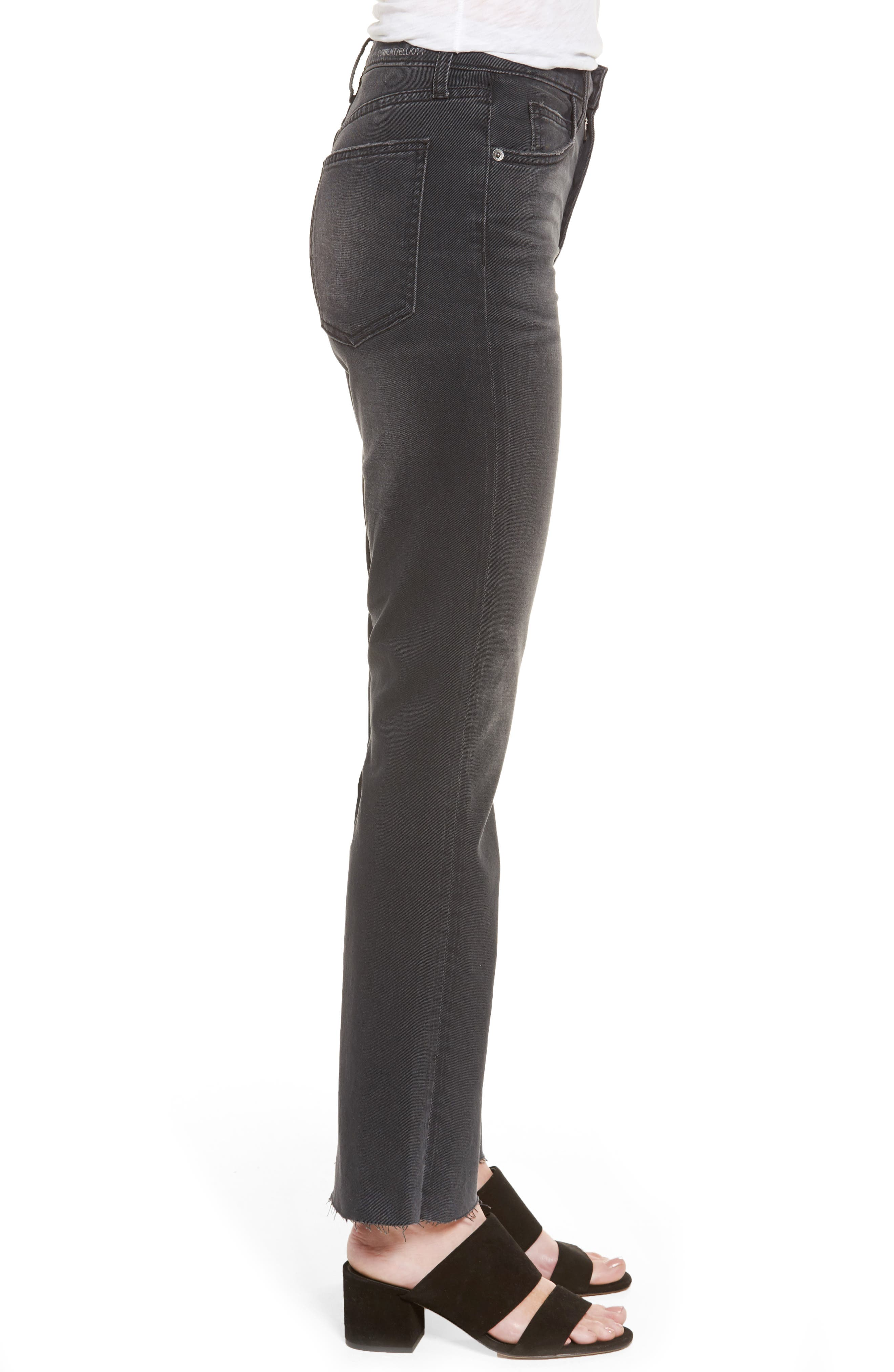 Alternate Image 3  - Current/Elliott The Kick High Waist Crop Flare Jeans (Edgebrook)
