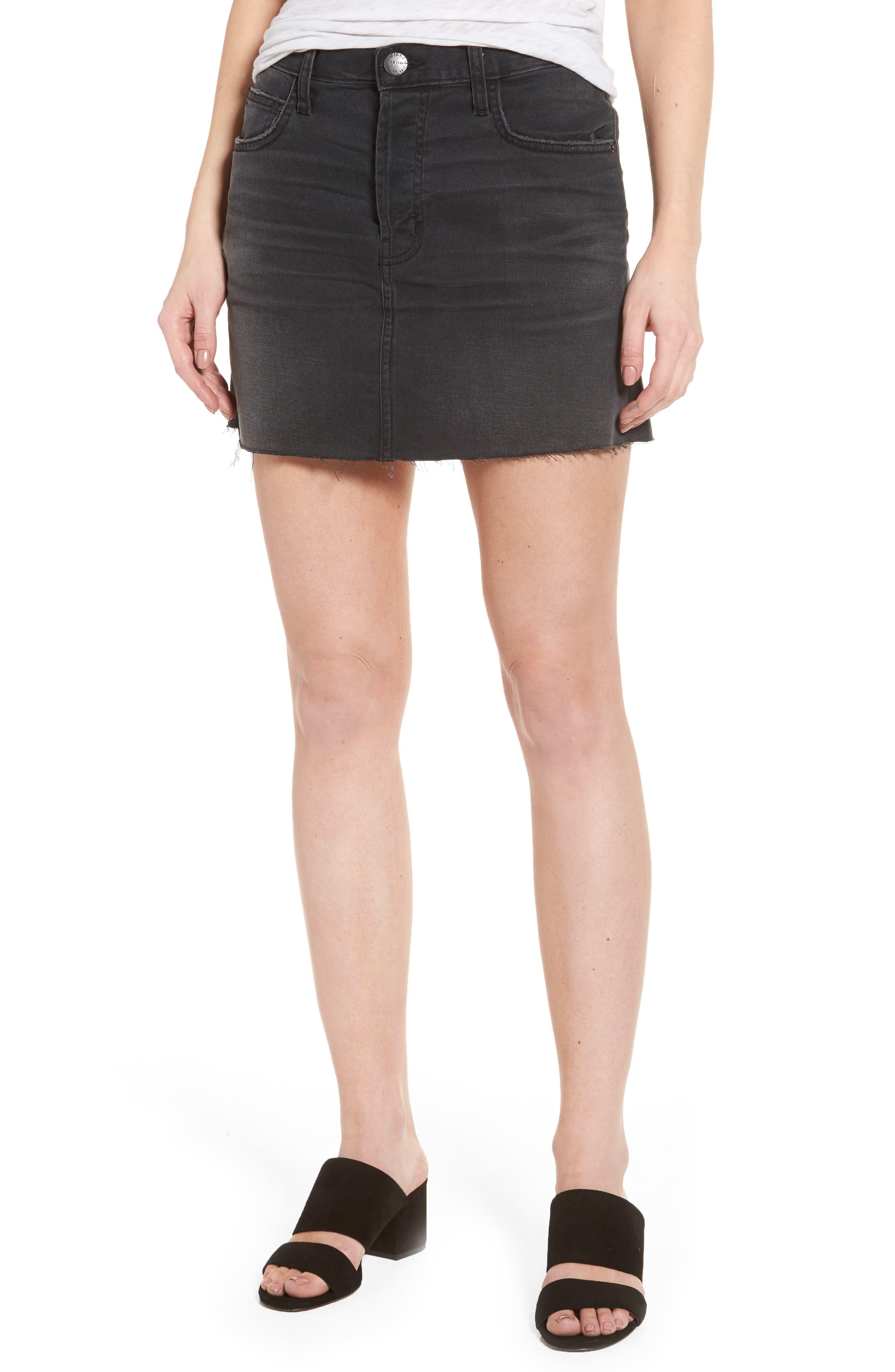 Main Image - Current/Elliott Cut Off Miniskirt