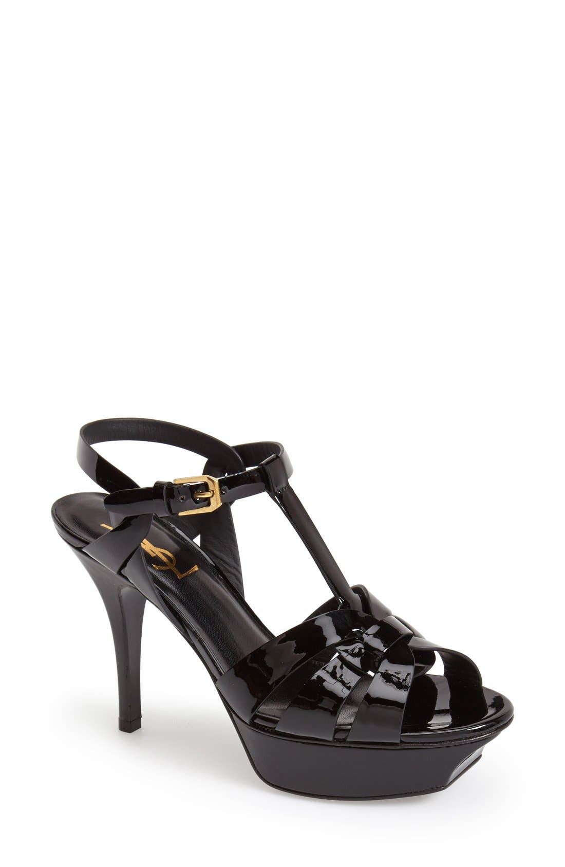 Main Image - Saint Laurent 'Tribute' T-Strap Sandal (Women)