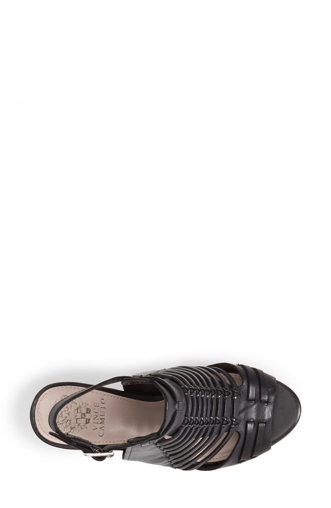 'Effel' Sandal,                             Alternate thumbnail 3, color,                             Black
