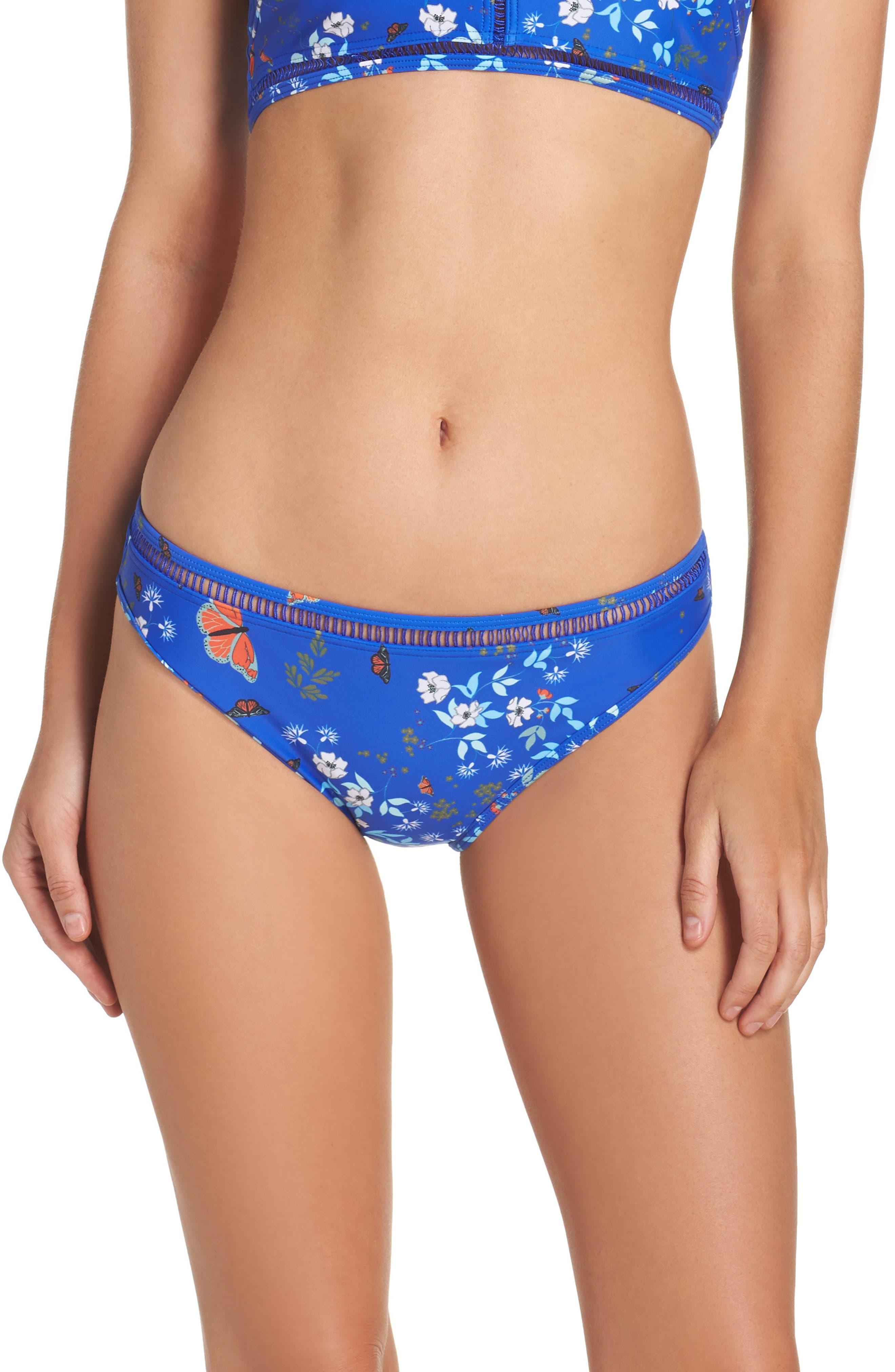 Kyoto Bikini Bottoms,                         Main,                         color, Bright Blue
