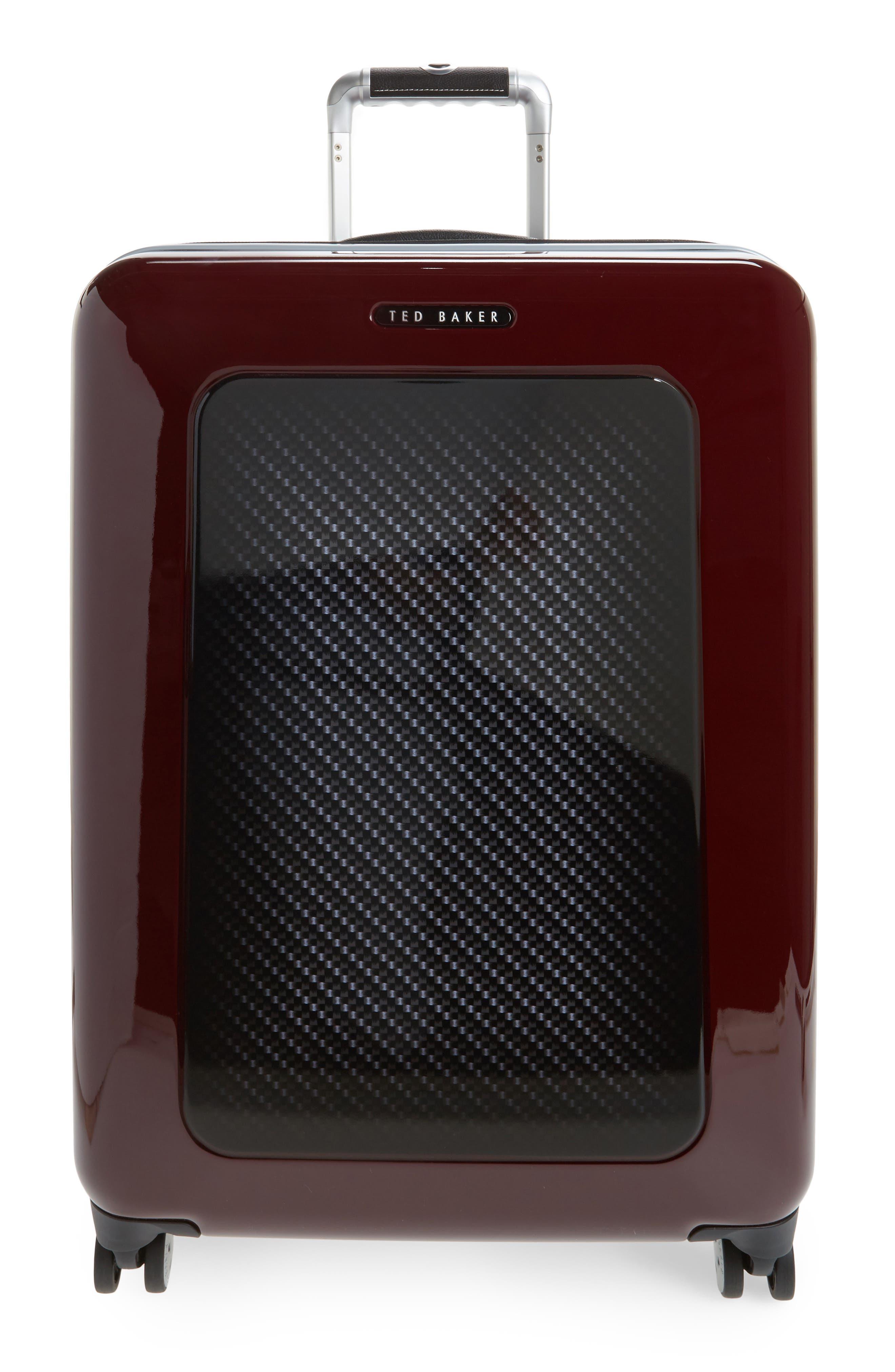 "Medium 28"" Hard Shell Spinner Suitcase,                         Main,                         color, Burg-Graph"
