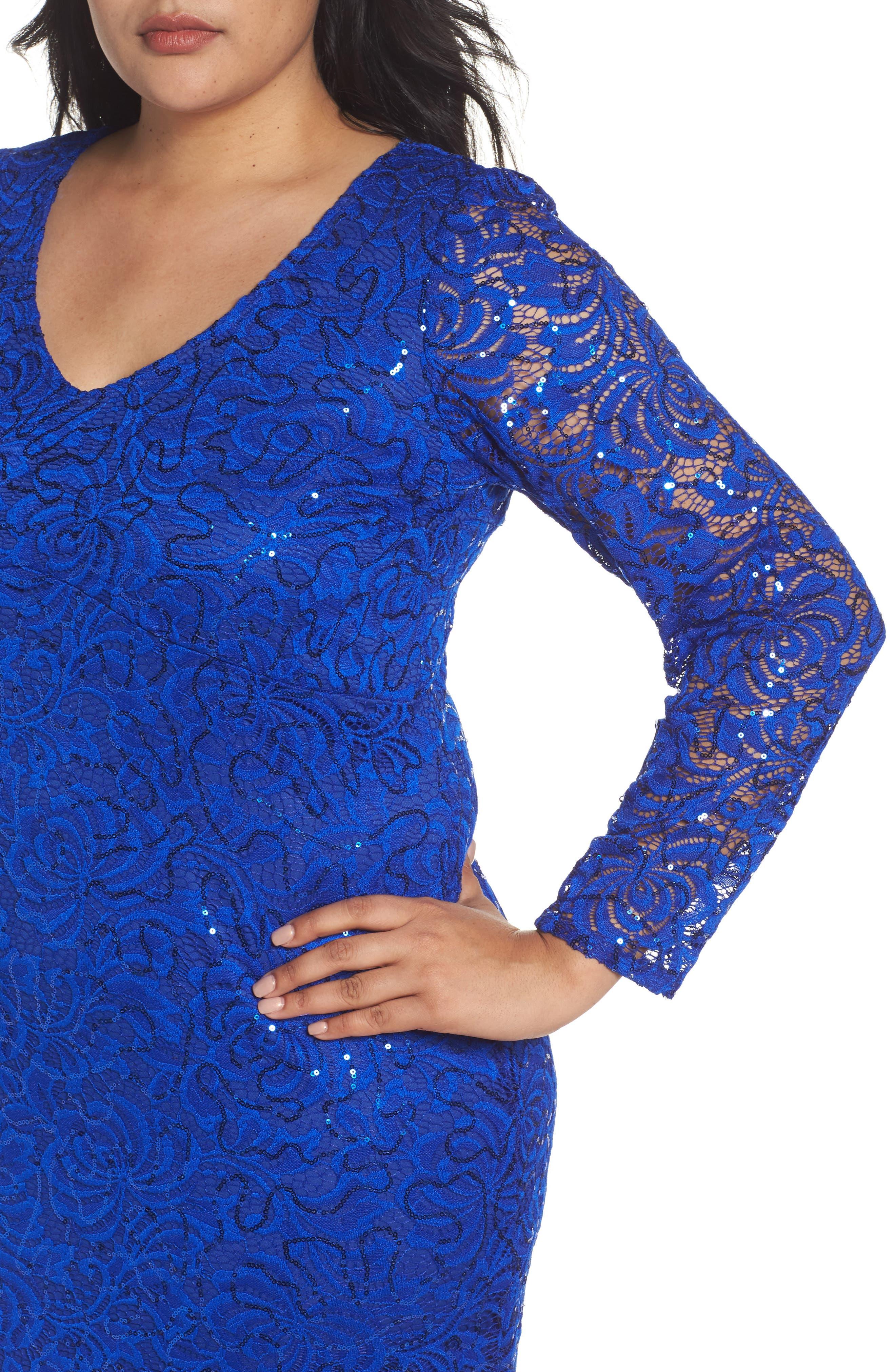 Alternate Image 4  - Marina Lace Sheath Dress (Plus Size)