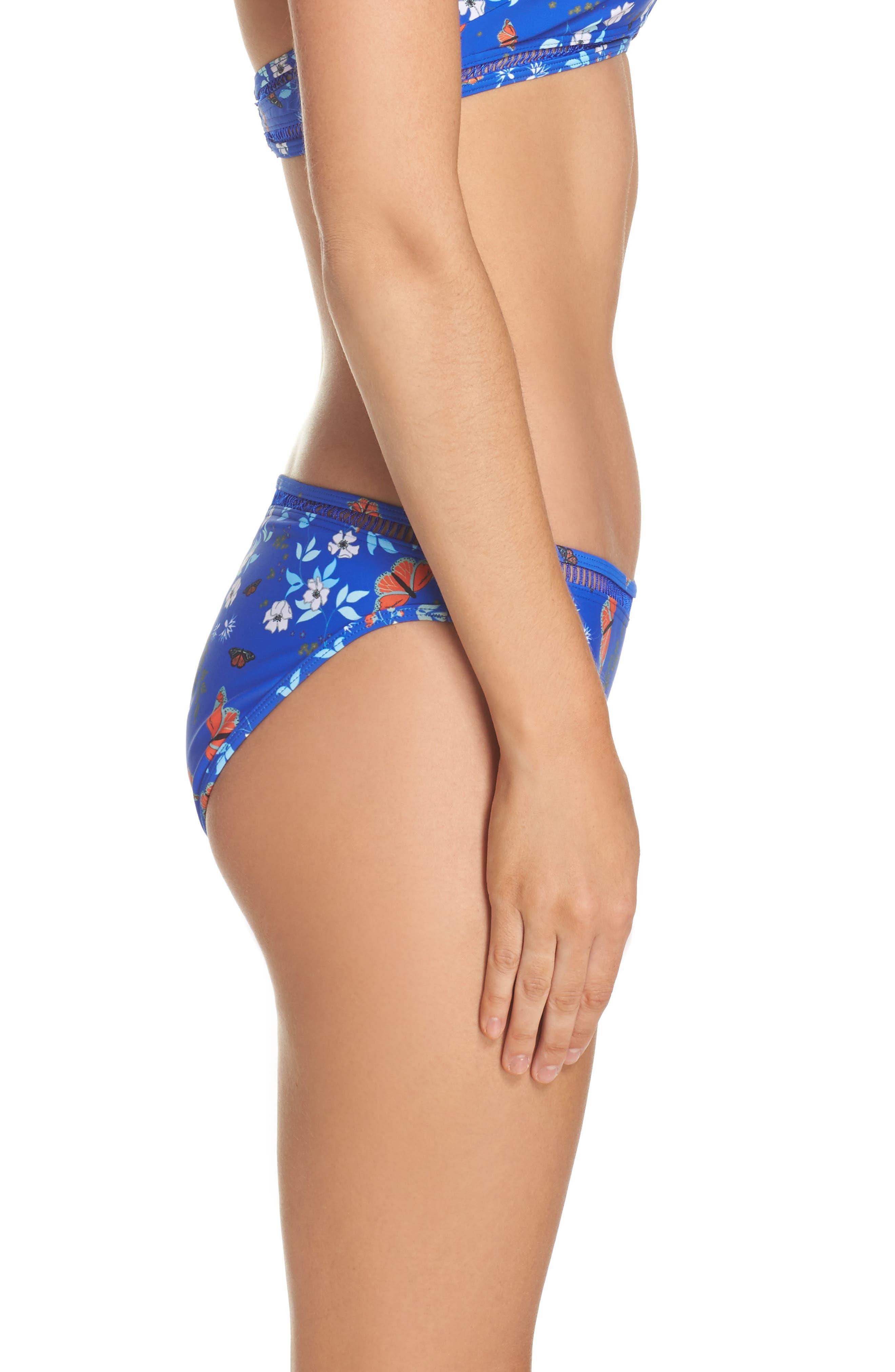 Kyoto Bikini Bottoms,                             Alternate thumbnail 3, color,                             Bright Blue