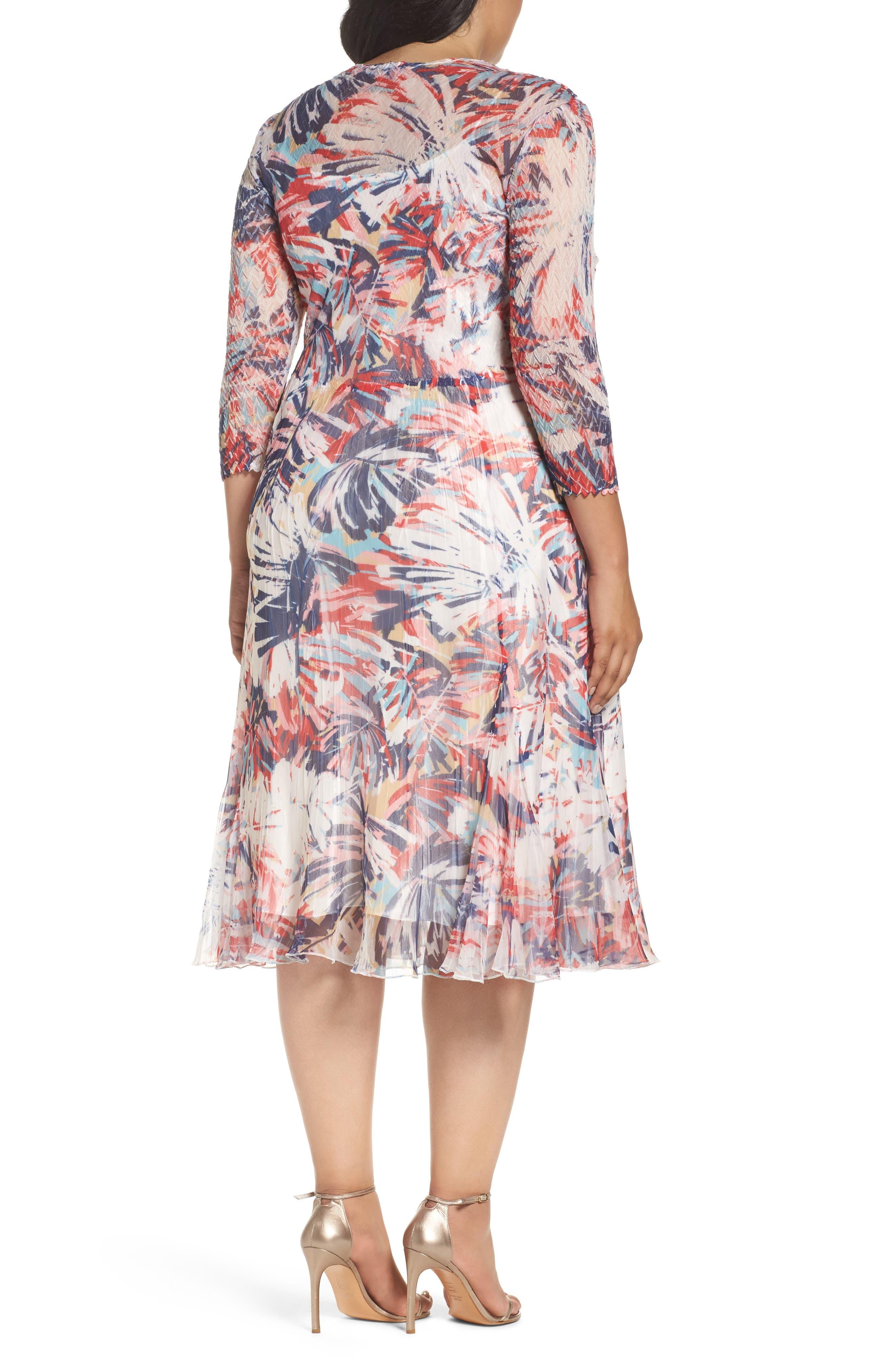 Print Chiffon A-Line Dress,                             Alternate thumbnail 2, color,                             Havana Palms