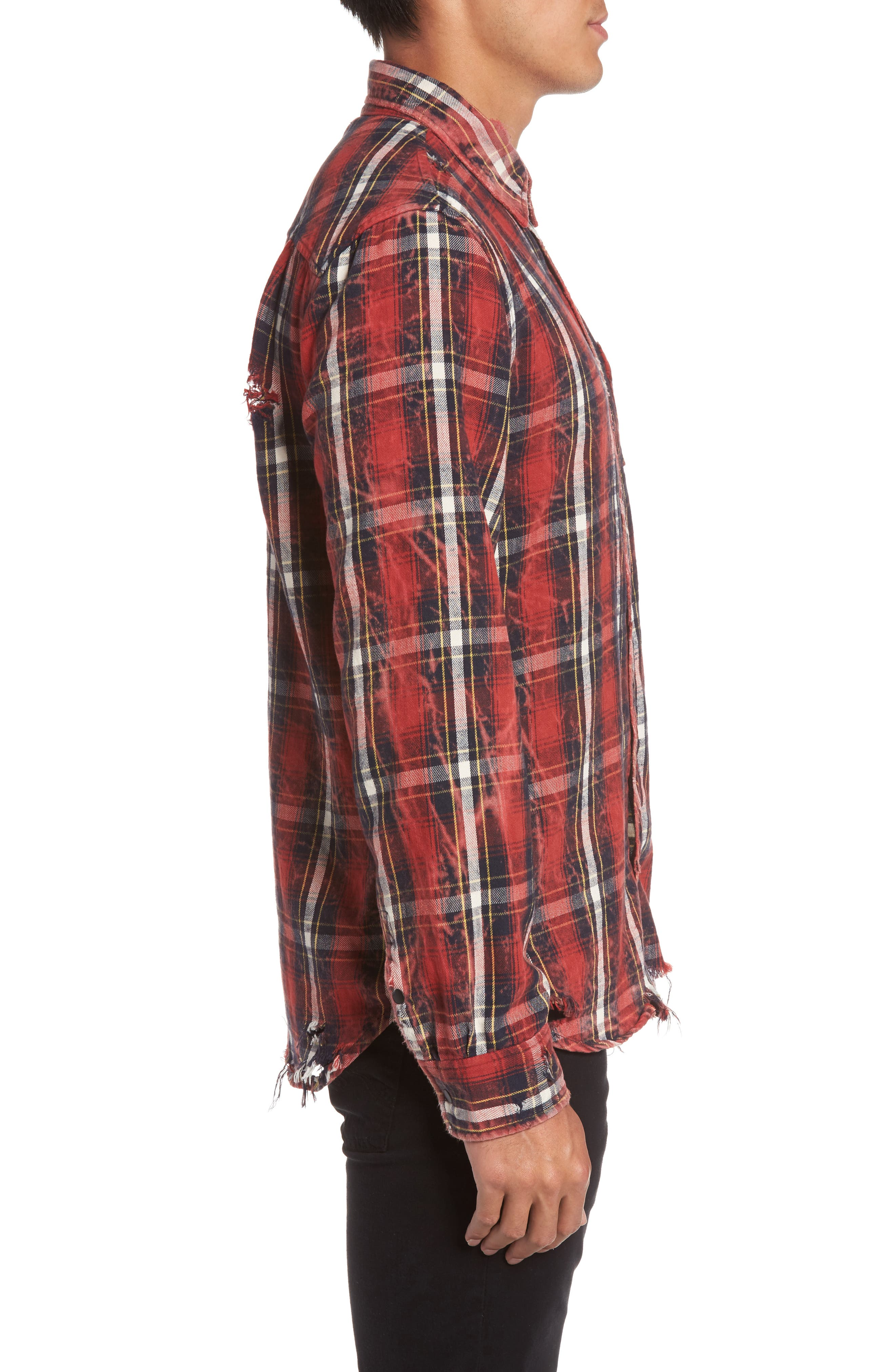 Slim Fit Plaid Sport Shirt,                             Alternate thumbnail 3, color,                             Instigate