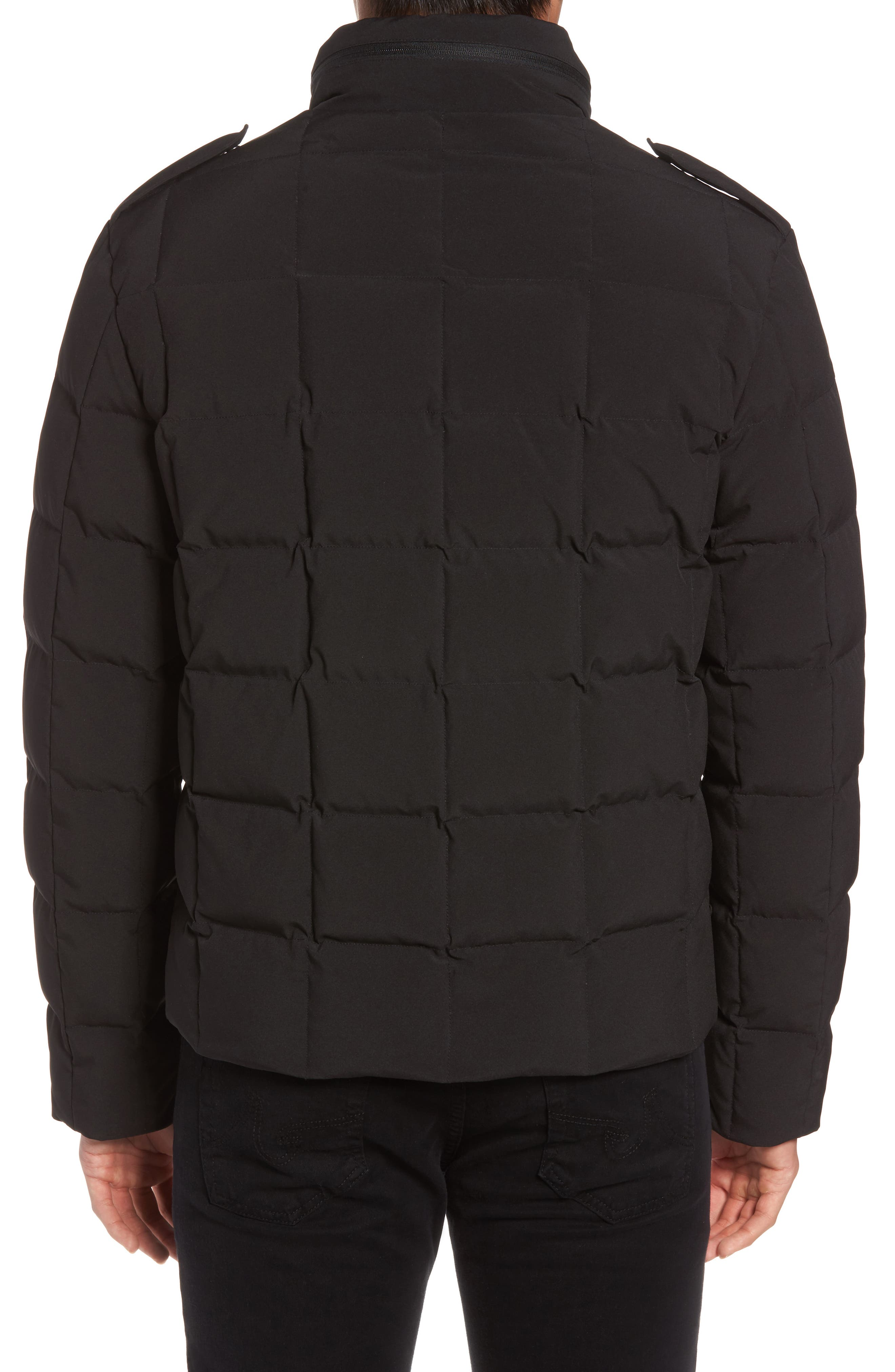Box Quilted Jacket,                             Alternate thumbnail 2, color,                             Black