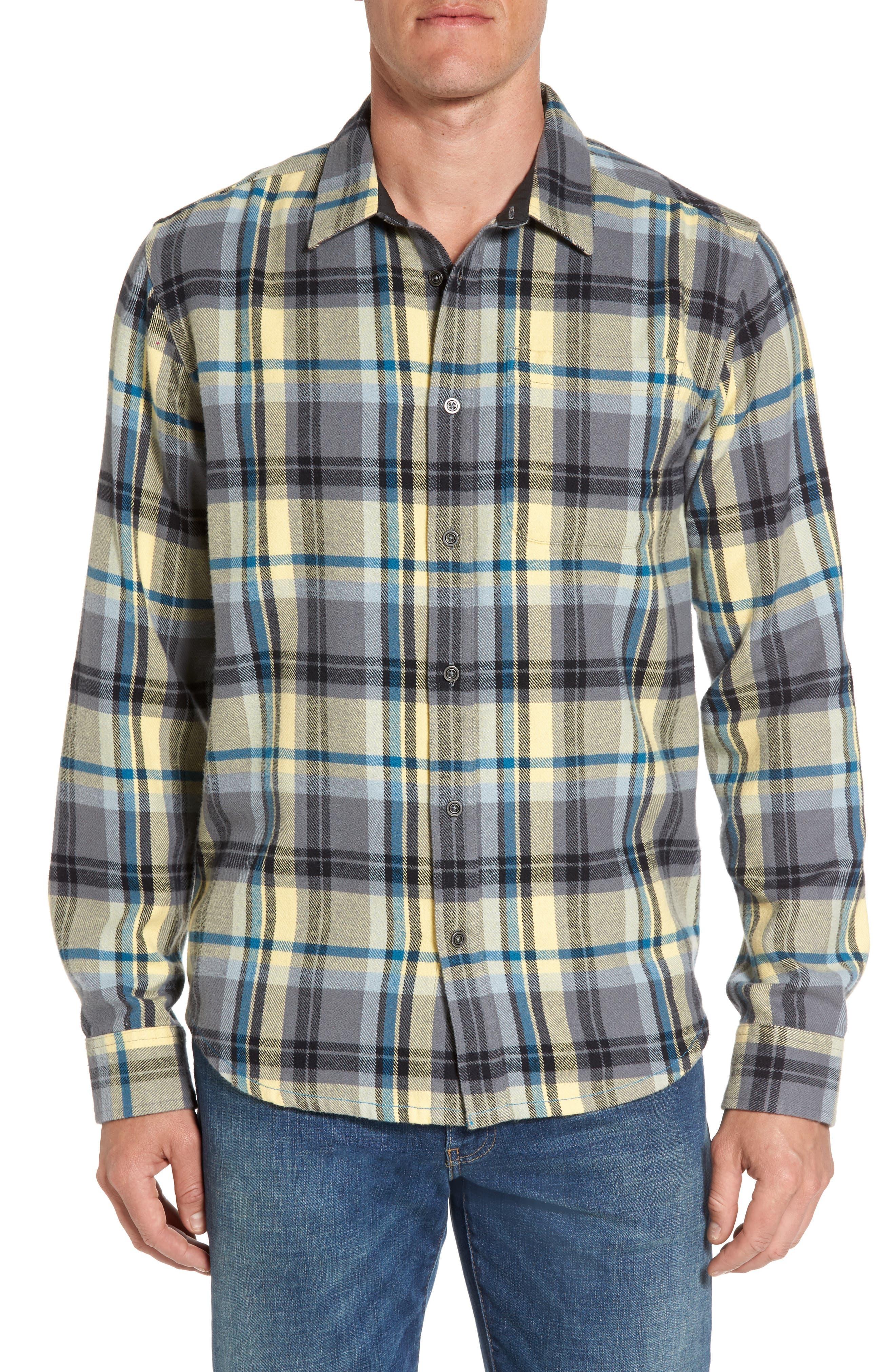 prAna Woodman Regular Fit Flannel Shirt