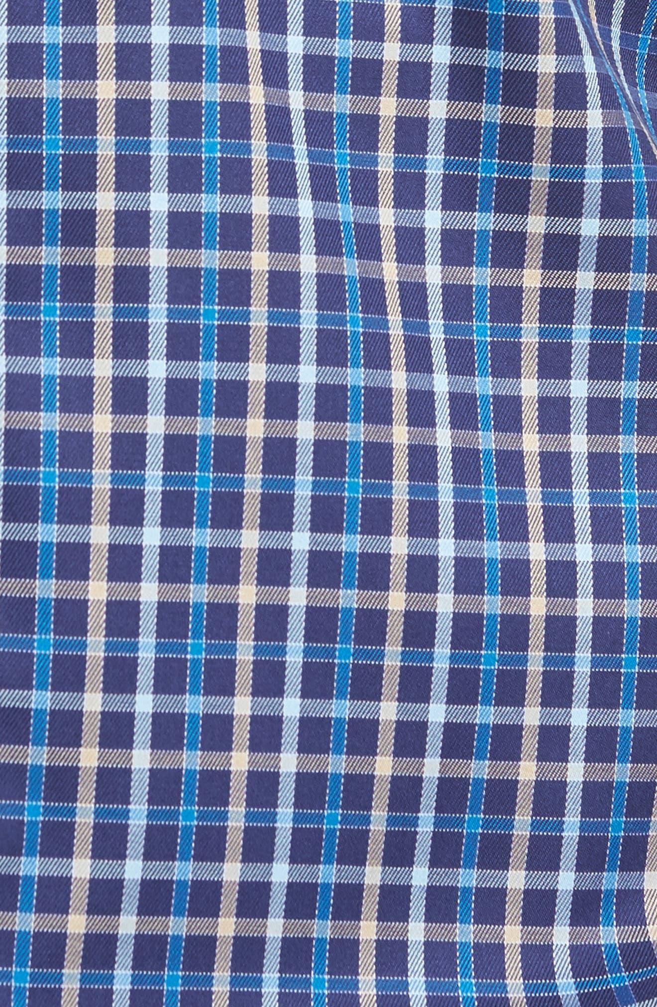 Alternate Image 5  - Peter Millar Nanoluxe Pinwheel Regular Fit Check Sport Shirt