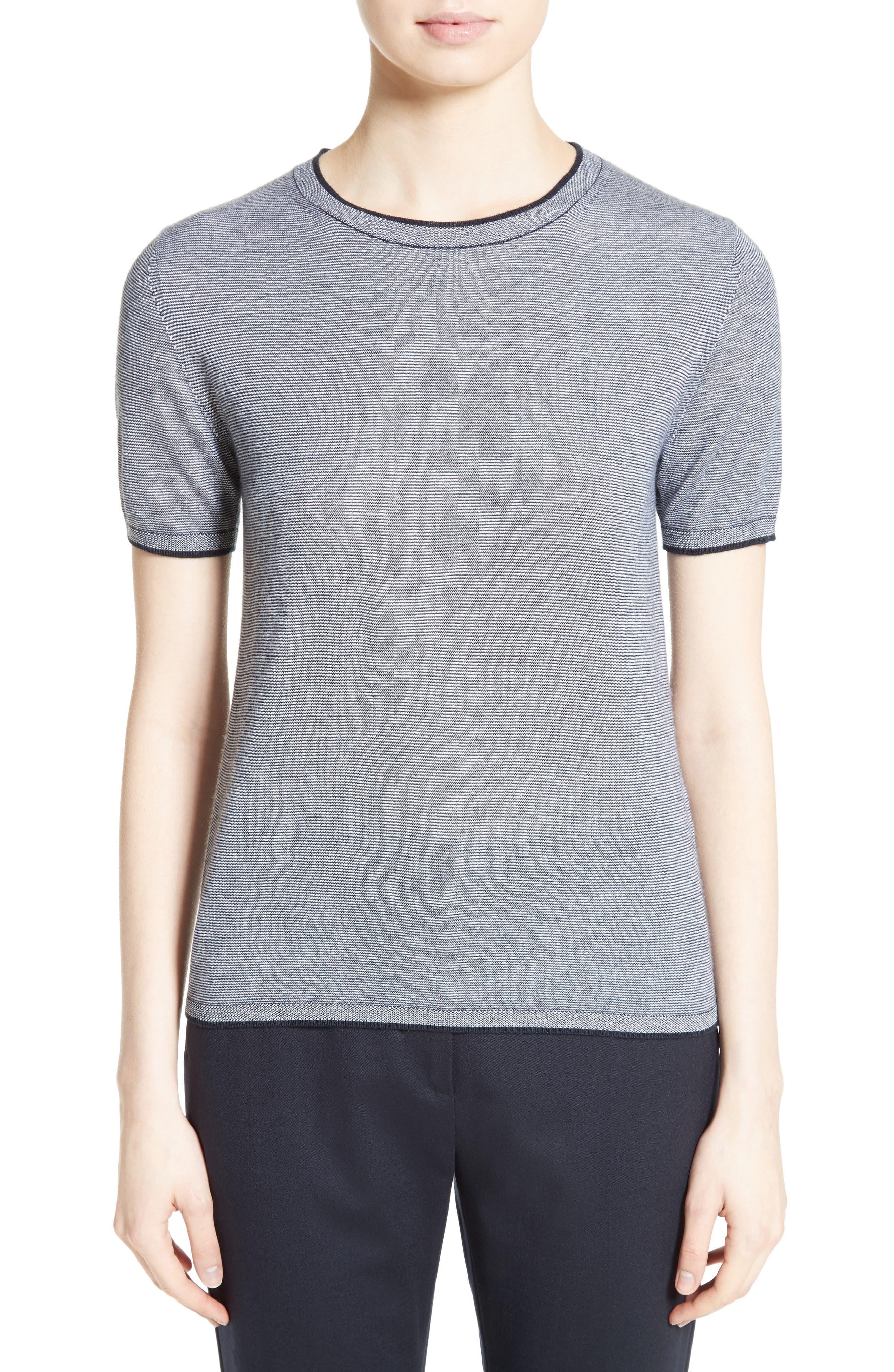 Max Mara Stampa Silk & Cashmere Knit Top