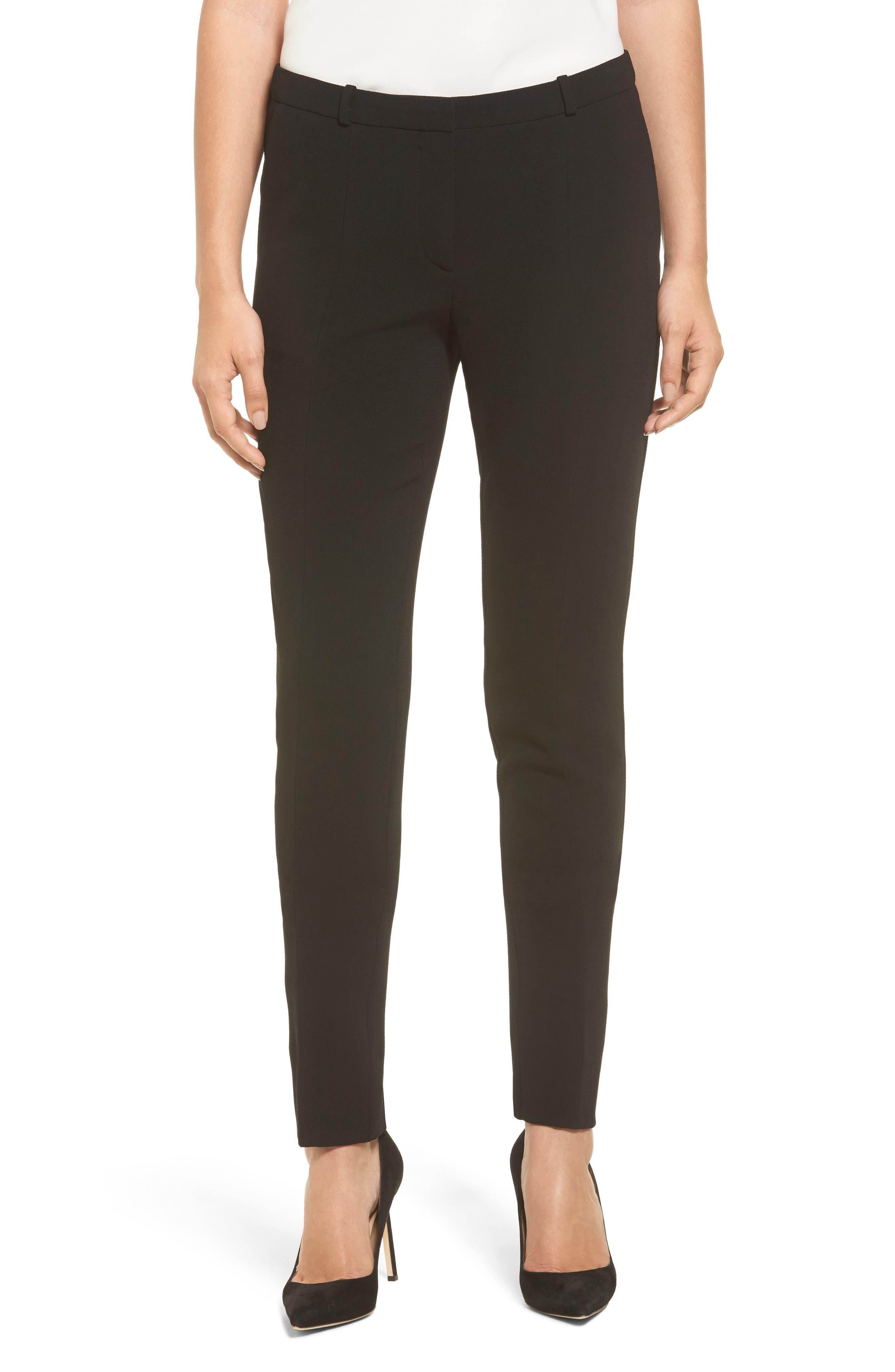 Atestelito Slim Crepe Suit Pants,                             Main thumbnail 1, color,                             Black