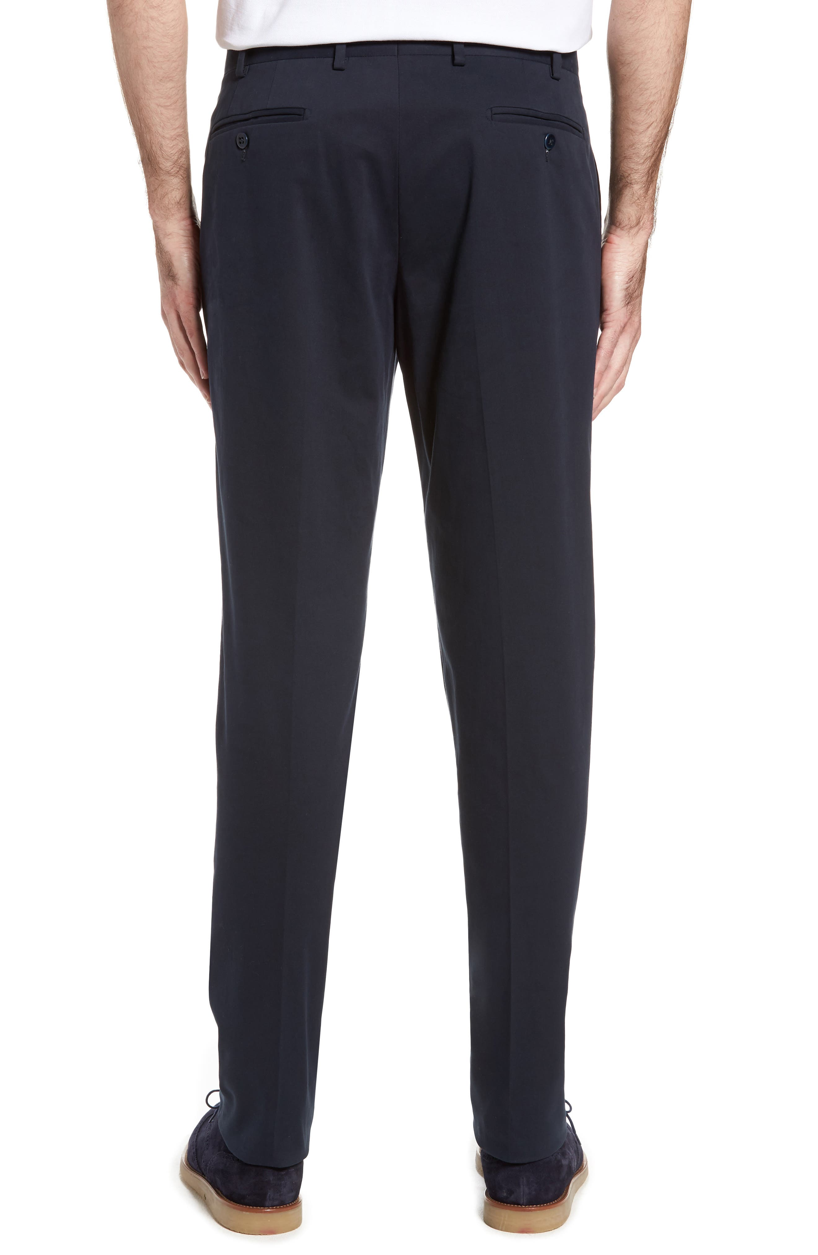 Alternate Image 2  - Zanella Parker Flat Front Solid Stretch Cotton Trousers
