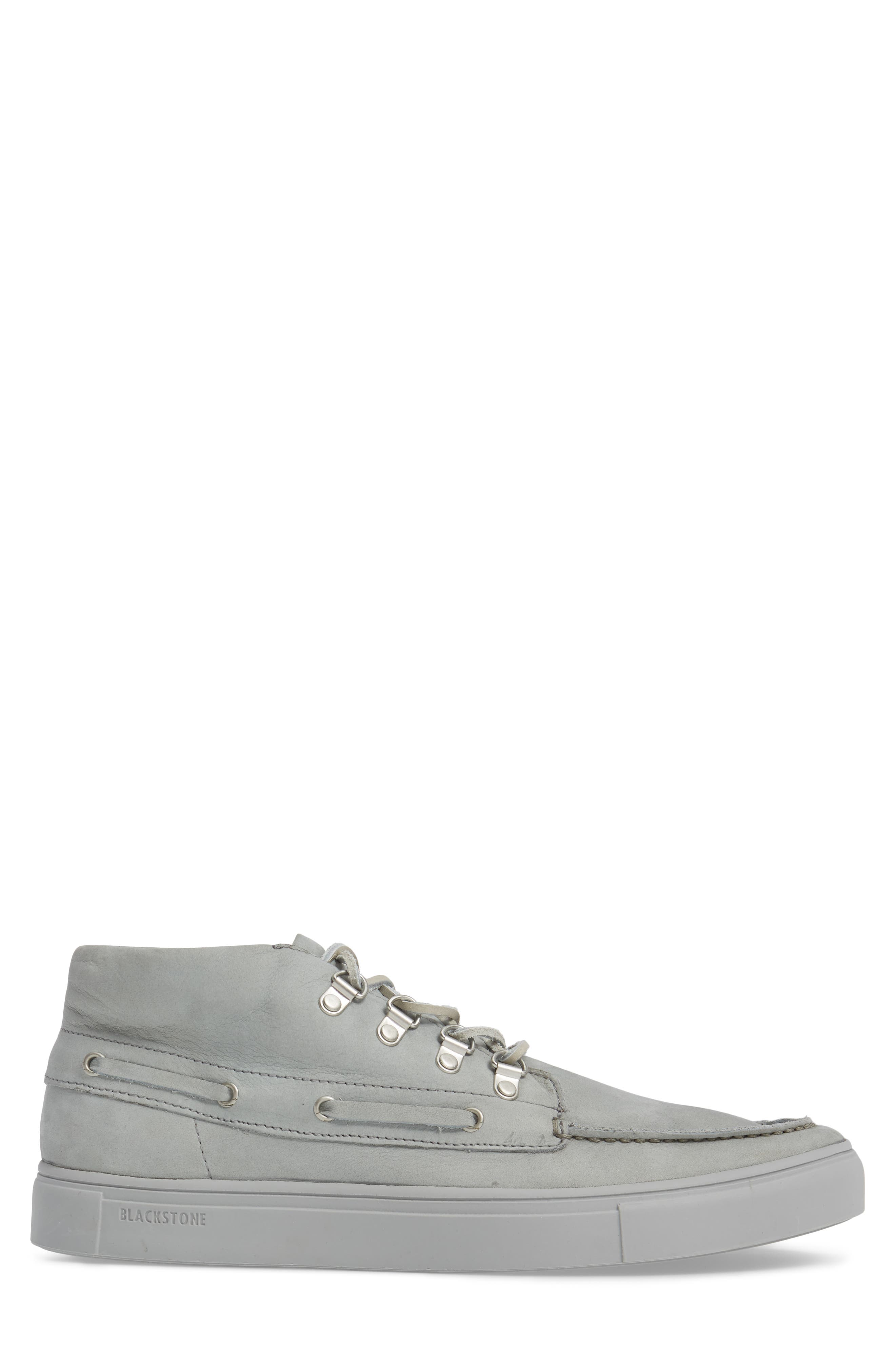 NM09 Mid Top Boat Sneaker,                             Alternate thumbnail 3, color,                             Limestone Leather