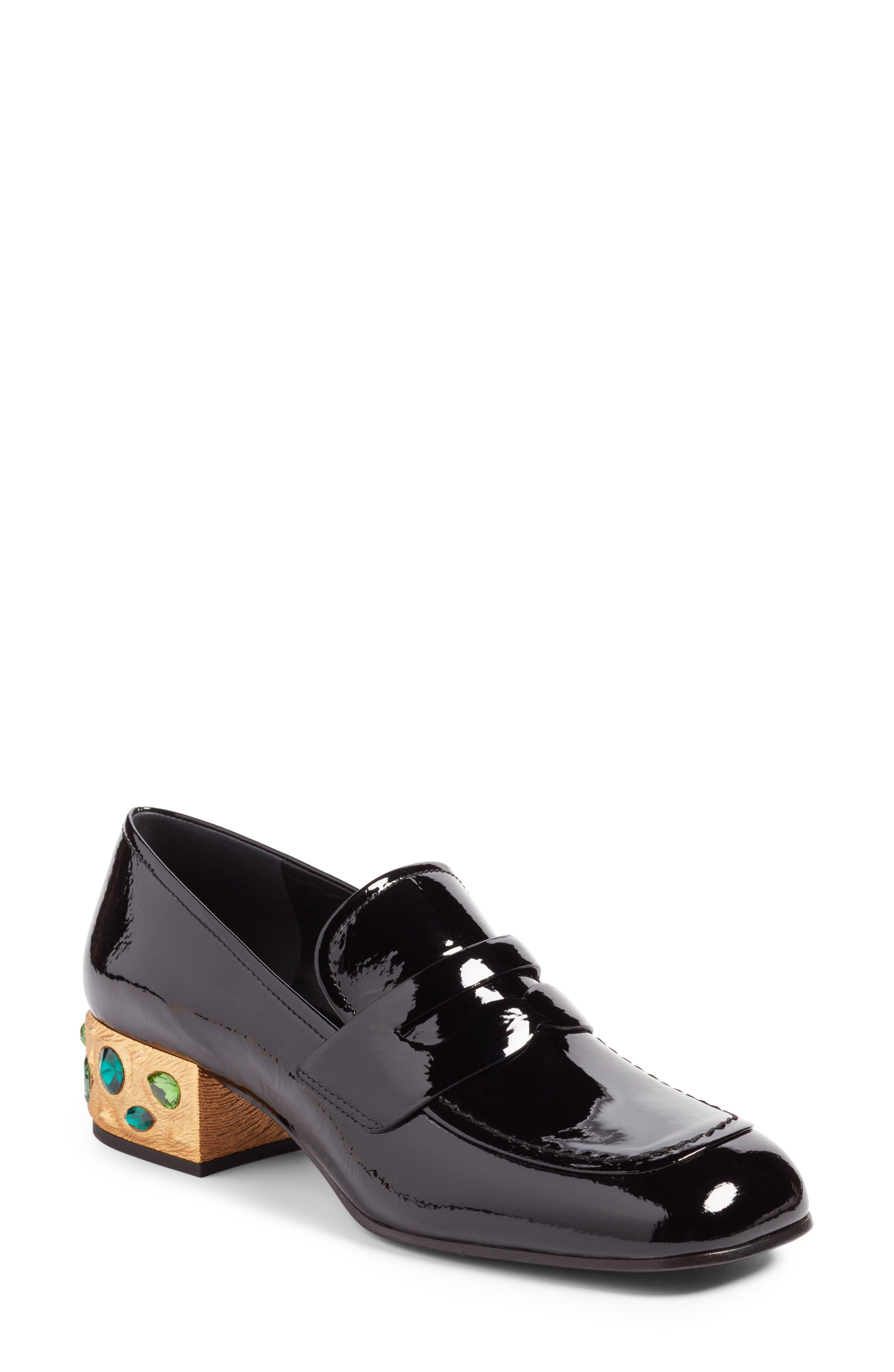 Embellished Loafer,                             Main thumbnail 1, color,                             Black
