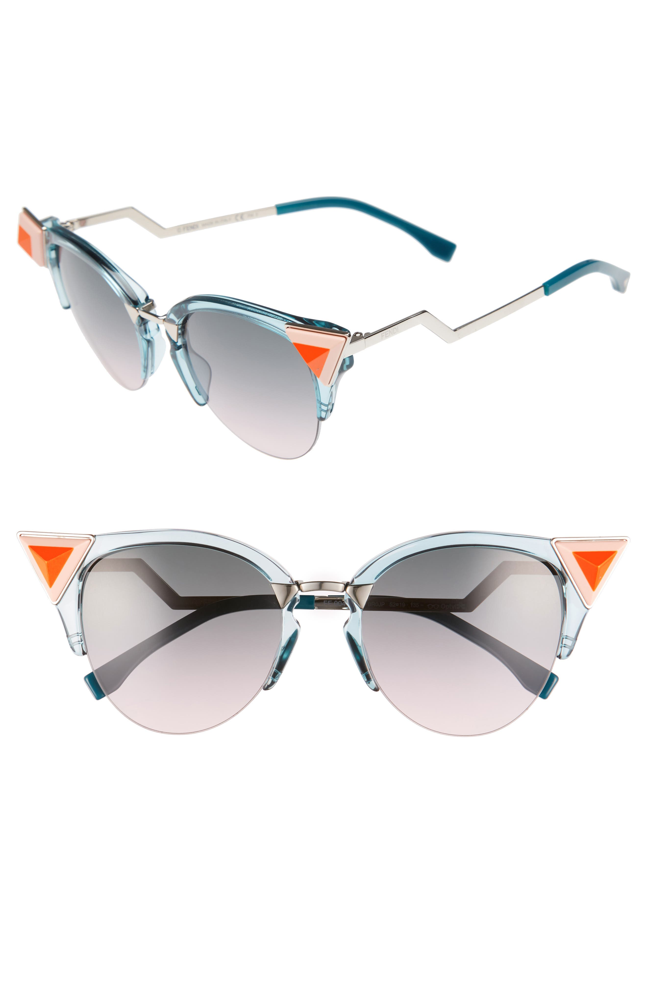 Main Image - Fendi 52mm Cat Eye Sunglasses