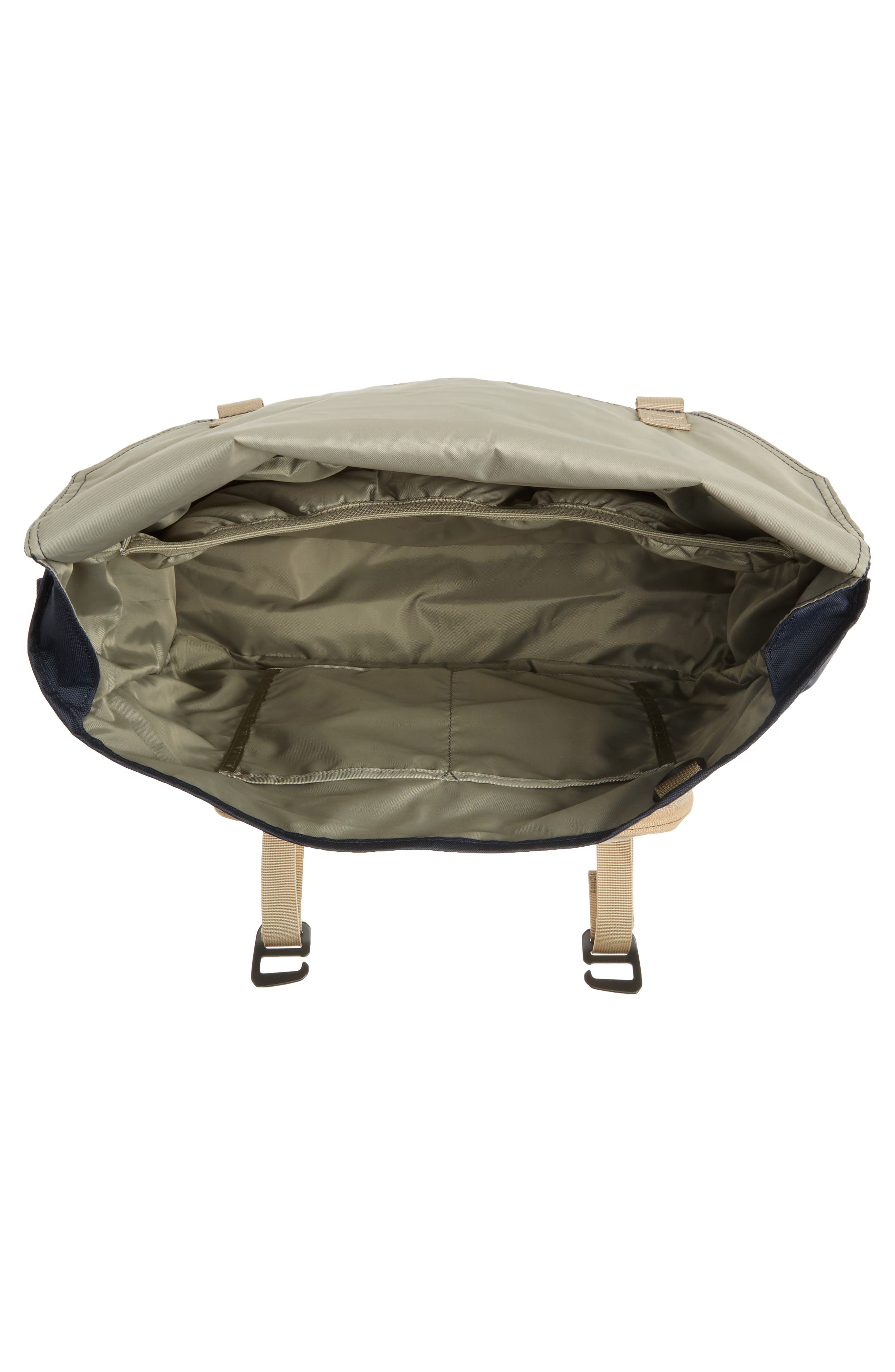 Crossridge Messenger Bag,                             Alternate thumbnail 4, color,                             Navy/ Tan