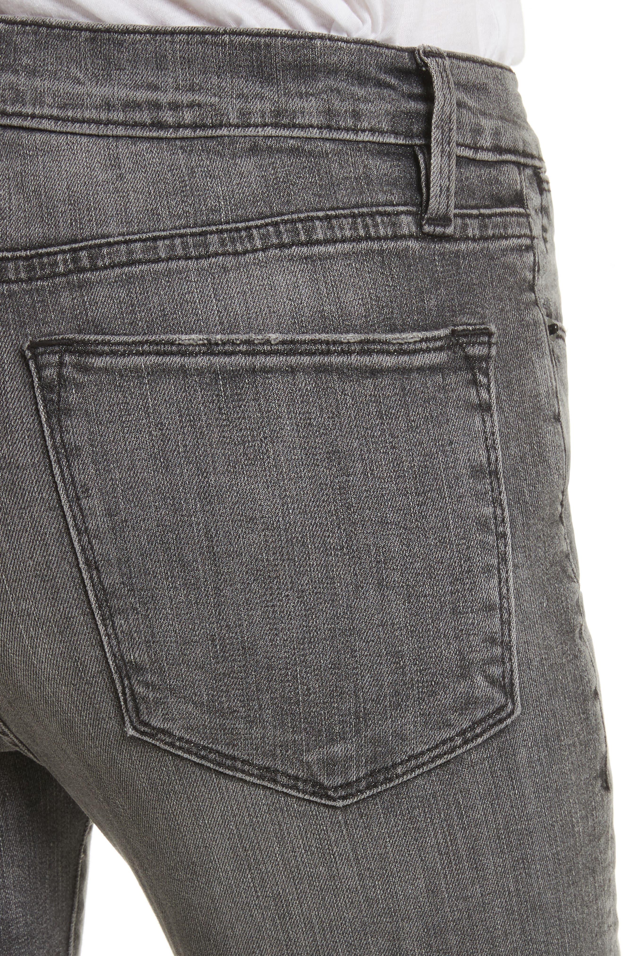 Le High Shredded Skinny Jeans,                             Alternate thumbnail 5, color,                             Berwick