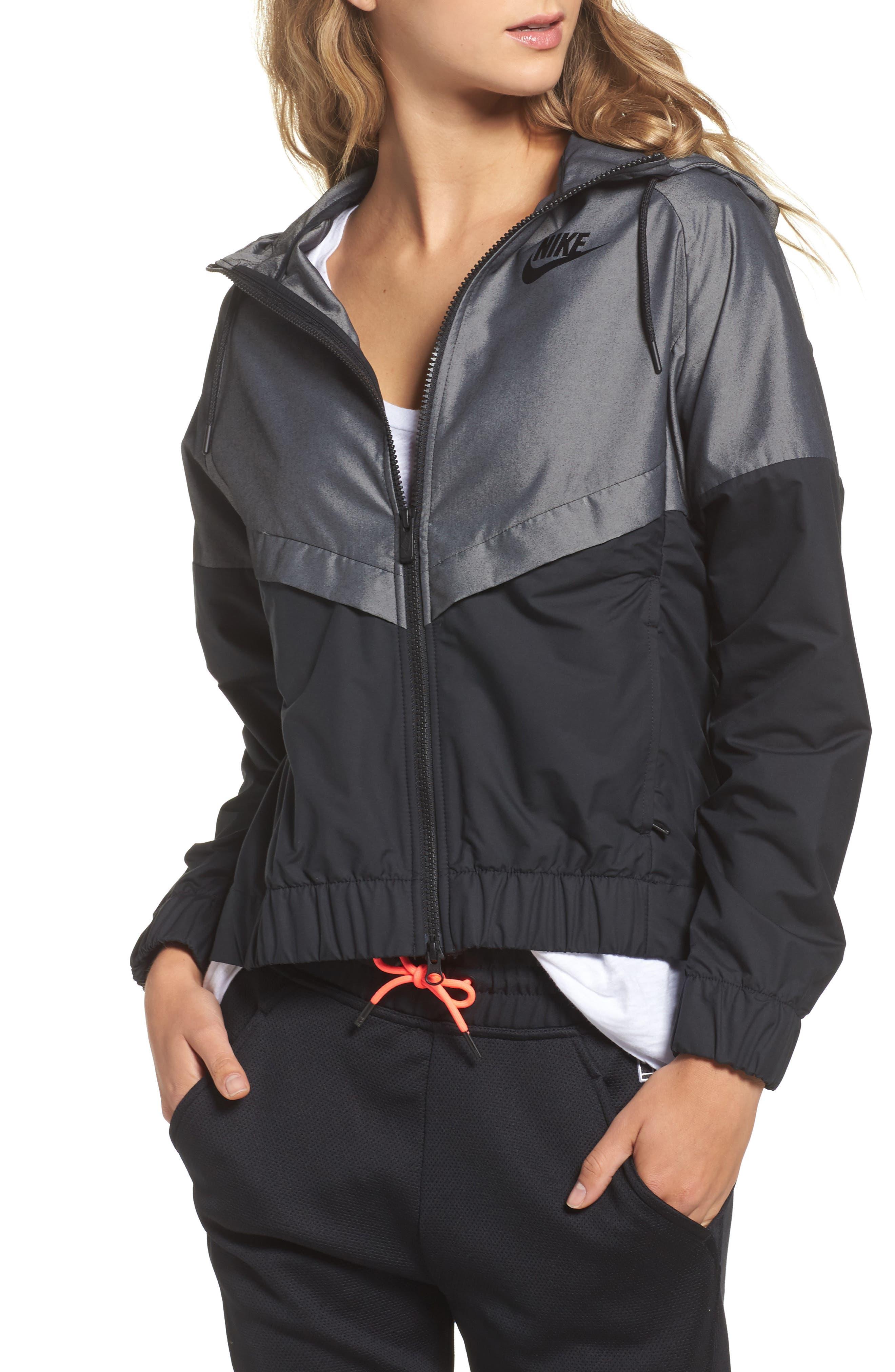 Alternate Image 1 Selected - Nike Chambray Drawstring Jacket