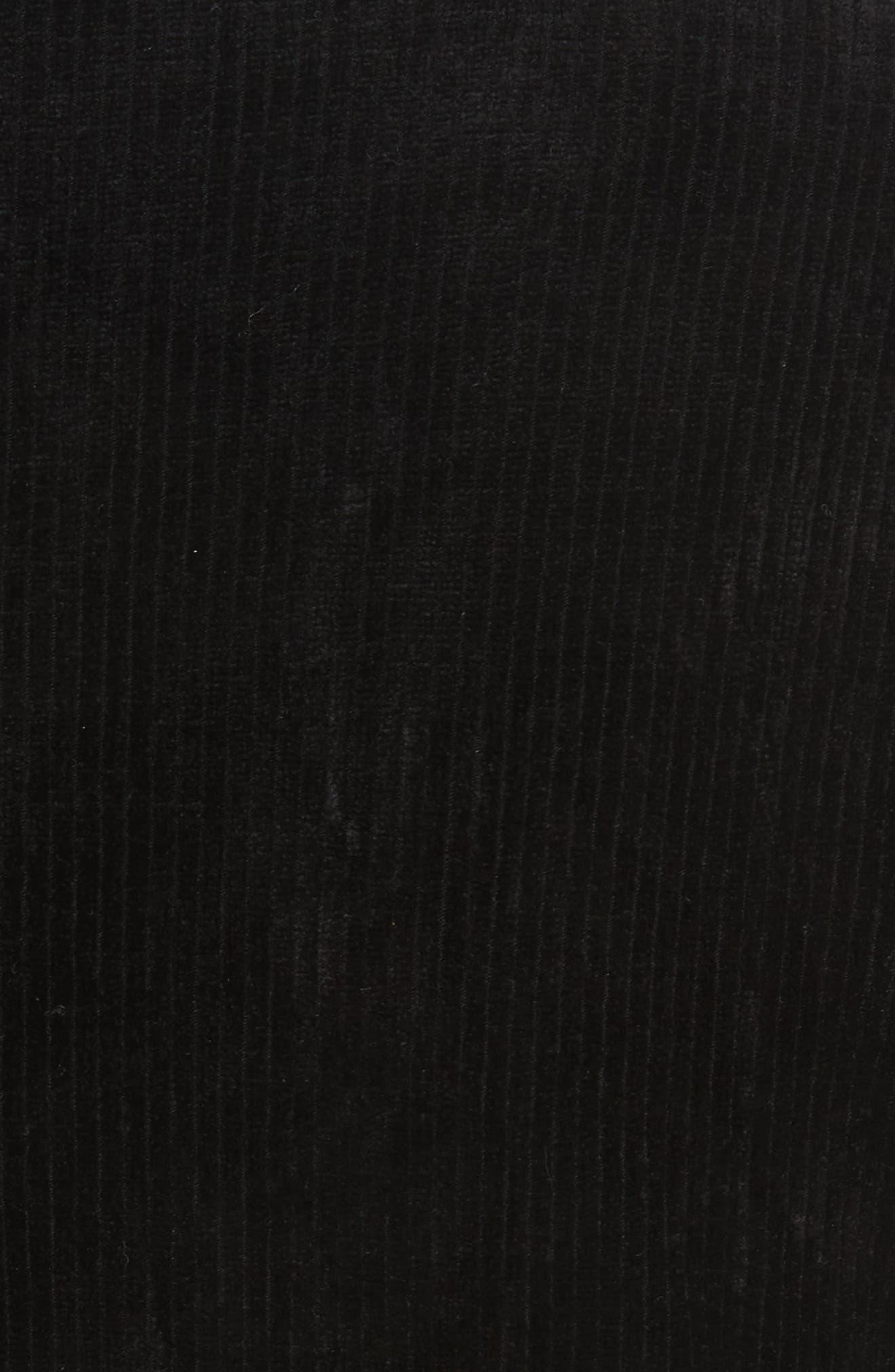 Abigail Funnel Neck Dress,                             Alternate thumbnail 3, color,                             Black
