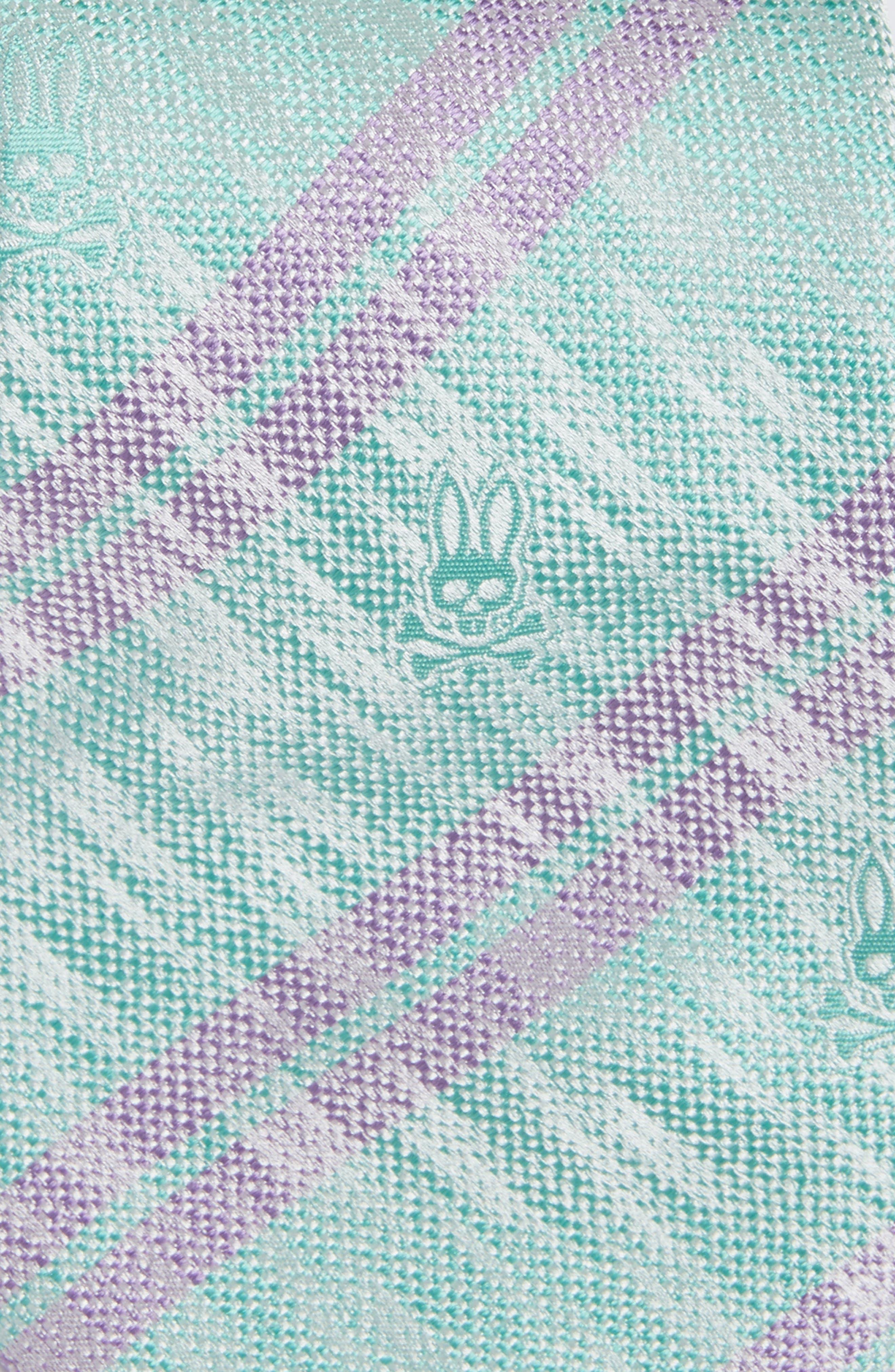 Double Stripe Silk Tie,                             Alternate thumbnail 2, color,                             Glass