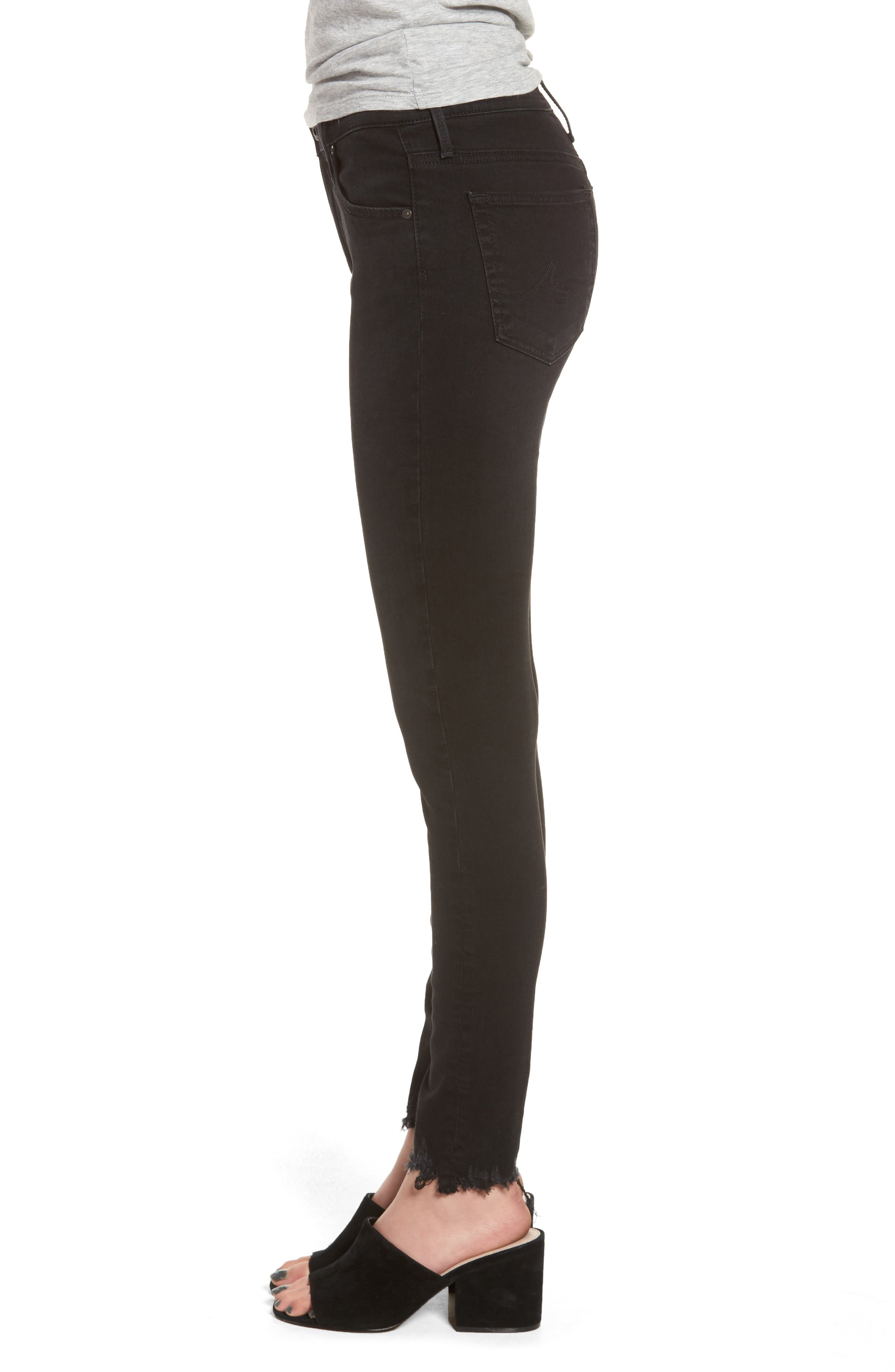 Alternate Image 3  - AG Farrah High Waist Ankle Skinny Jeans (Black Storm)