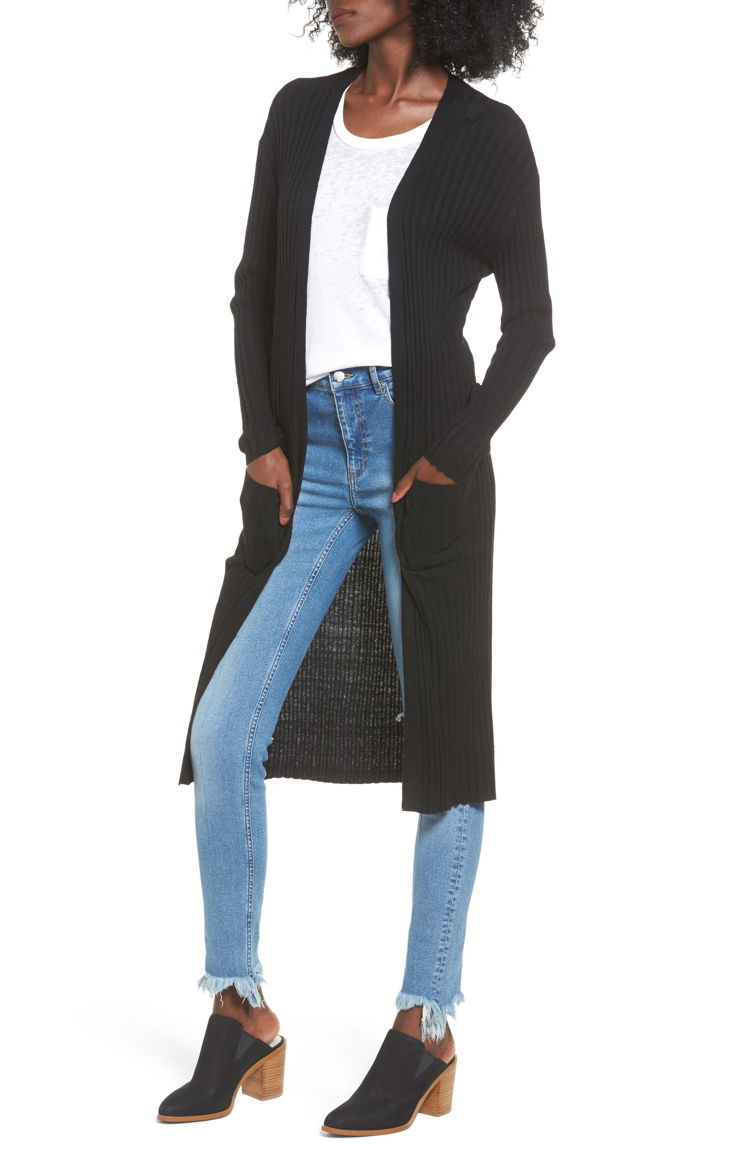 Main Image - BP. Rib Knit Midi Cardigan