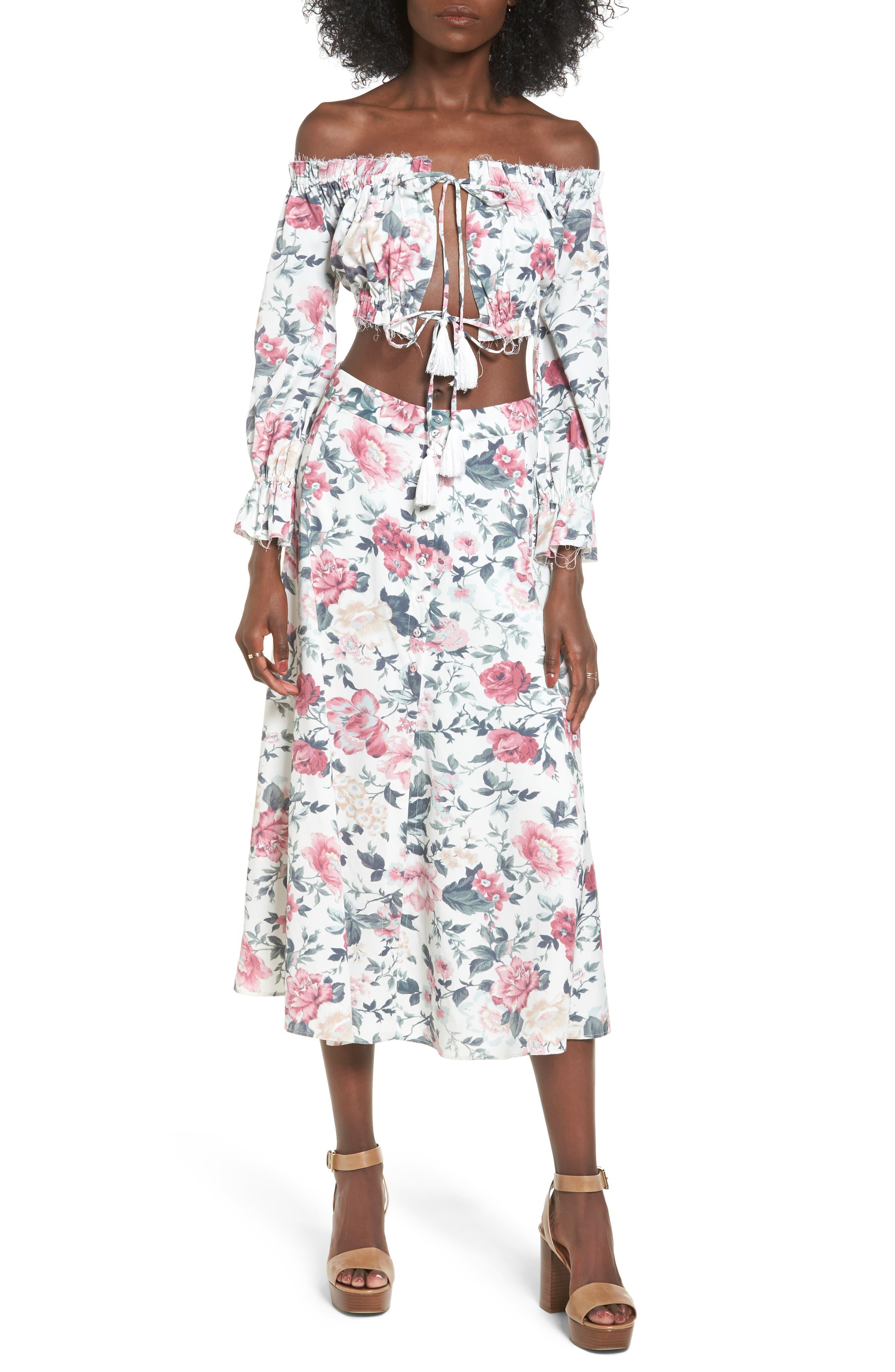 Sunday Midi Skirt,                             Alternate thumbnail 2, color,                             Carnation