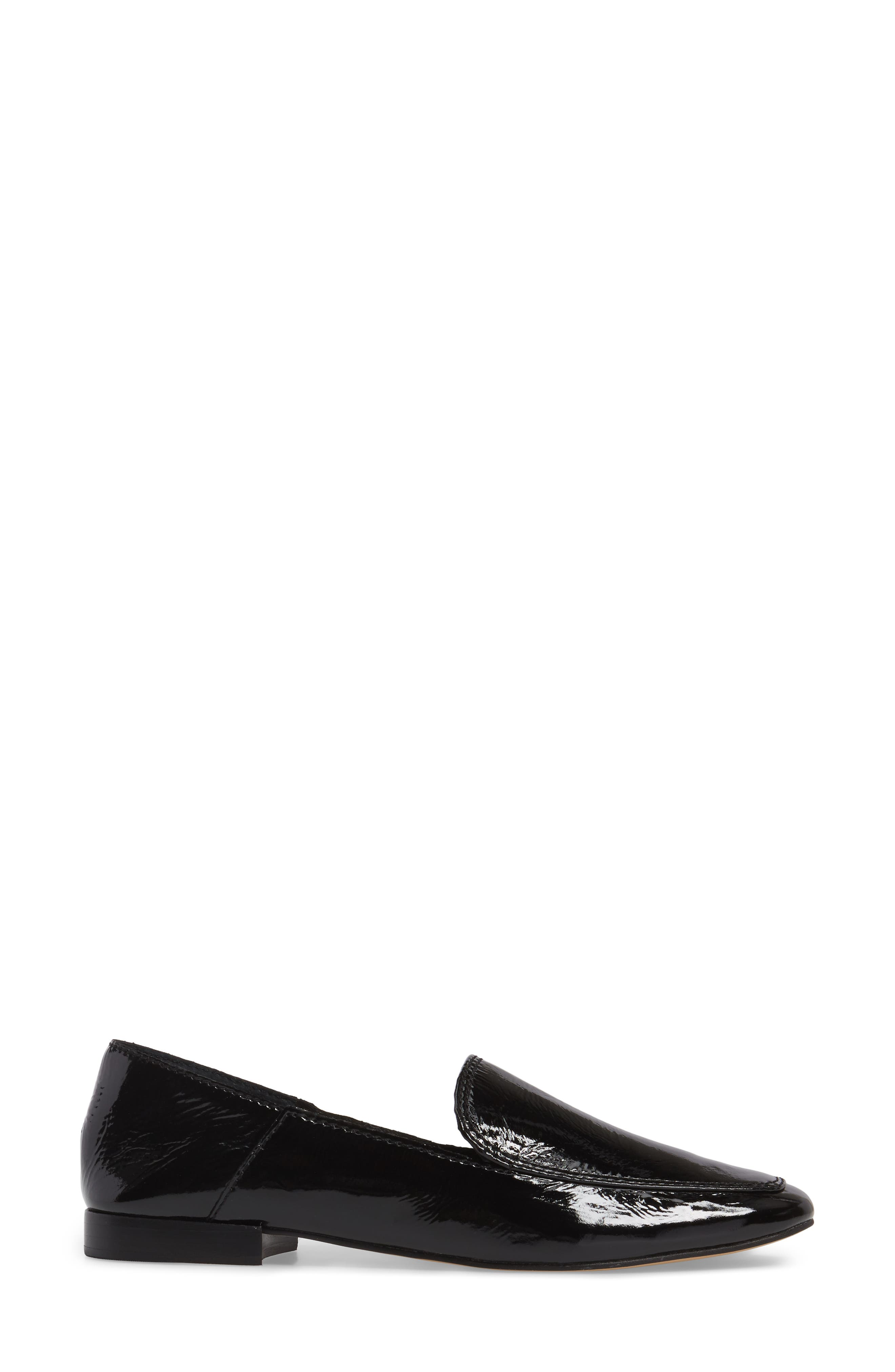 Camden Loafer,                             Alternate thumbnail 3, color,                             Onyx Patent Leather