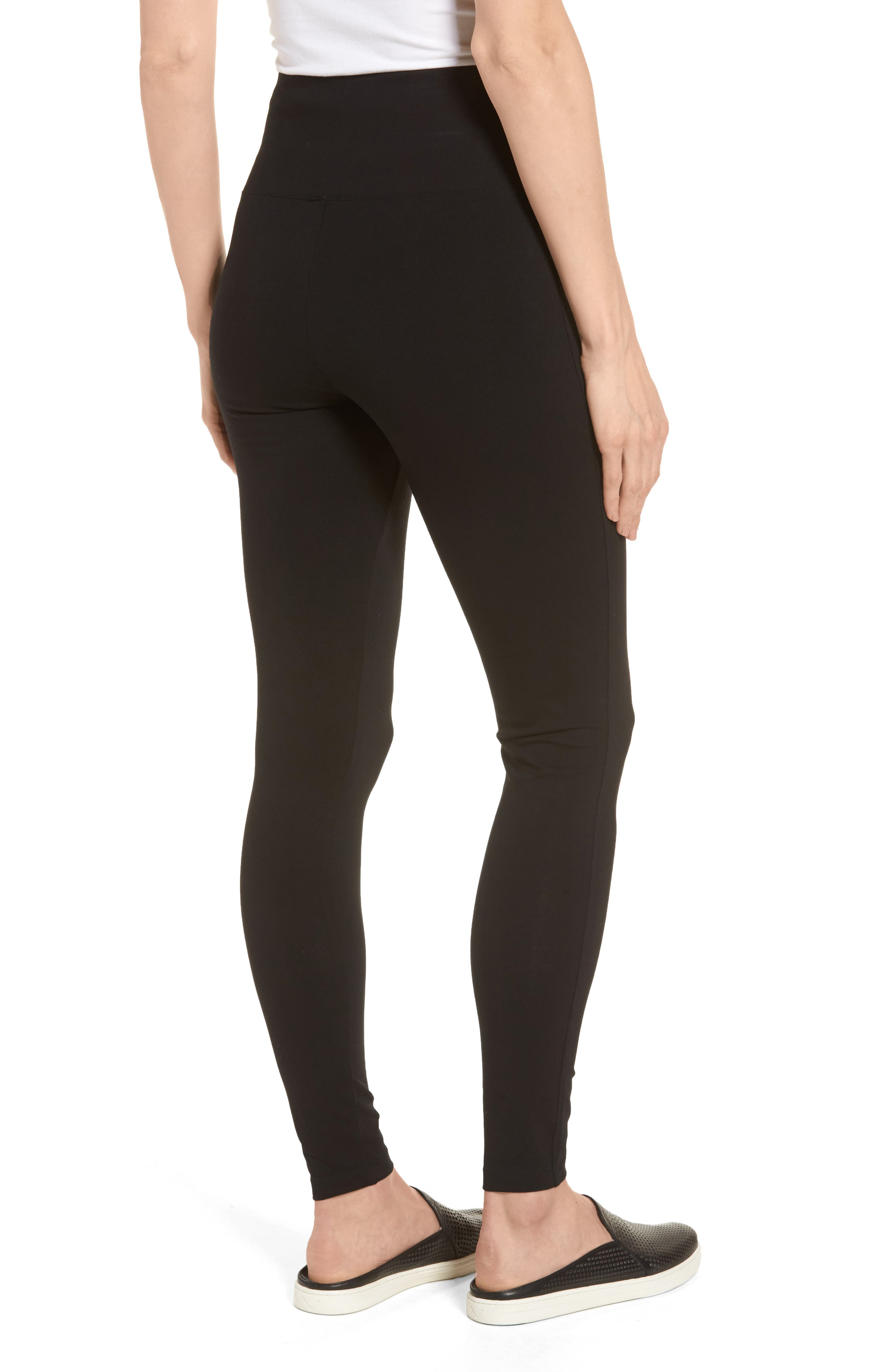 Alternate Image 3  - Caslon® High Waist Leggings (Regular & Petite)