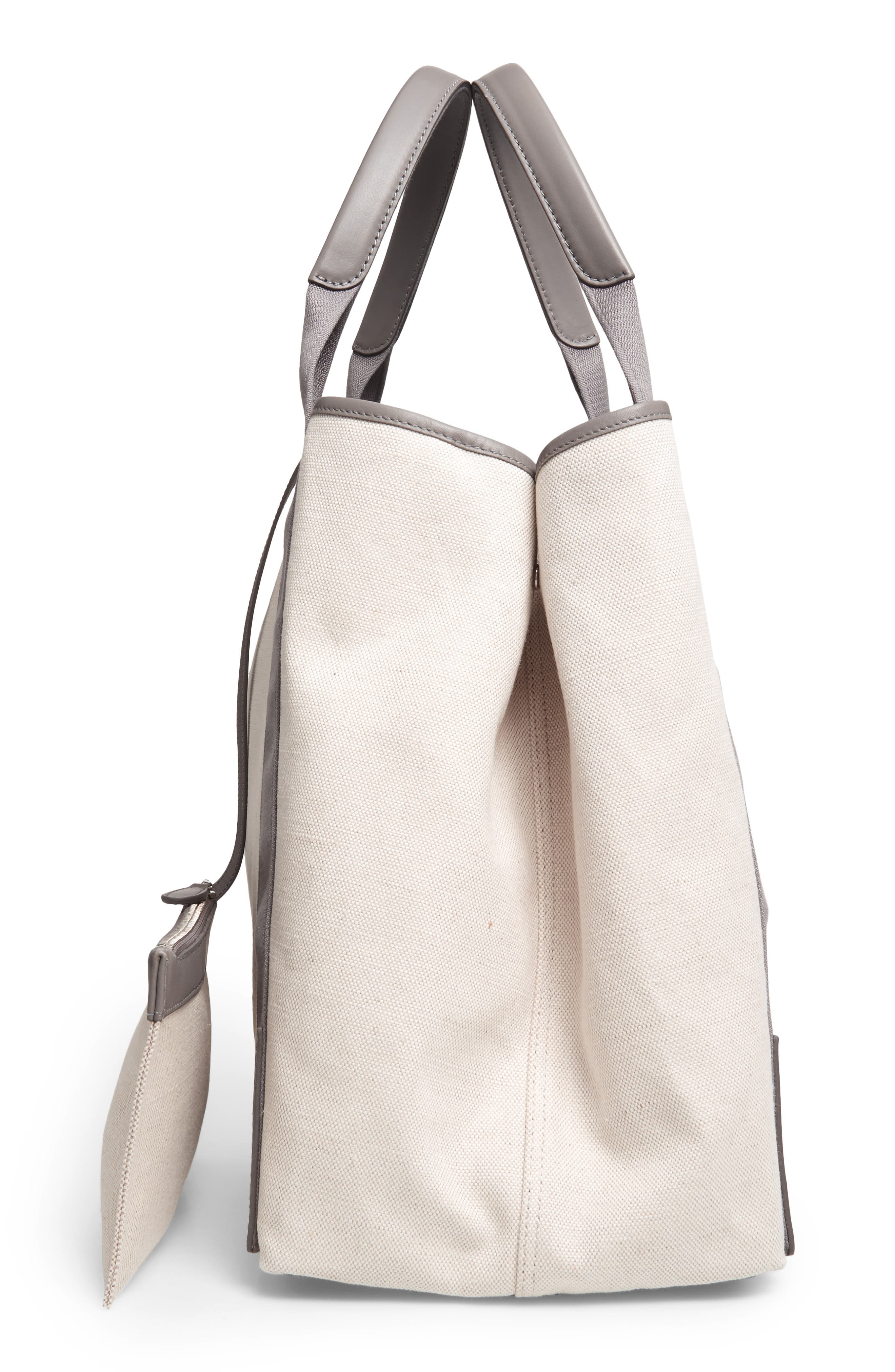 Medium Cabas Canvas Tote,                             Alternate thumbnail 5, color,                             2881 Gris Taupe/Nat/Grt