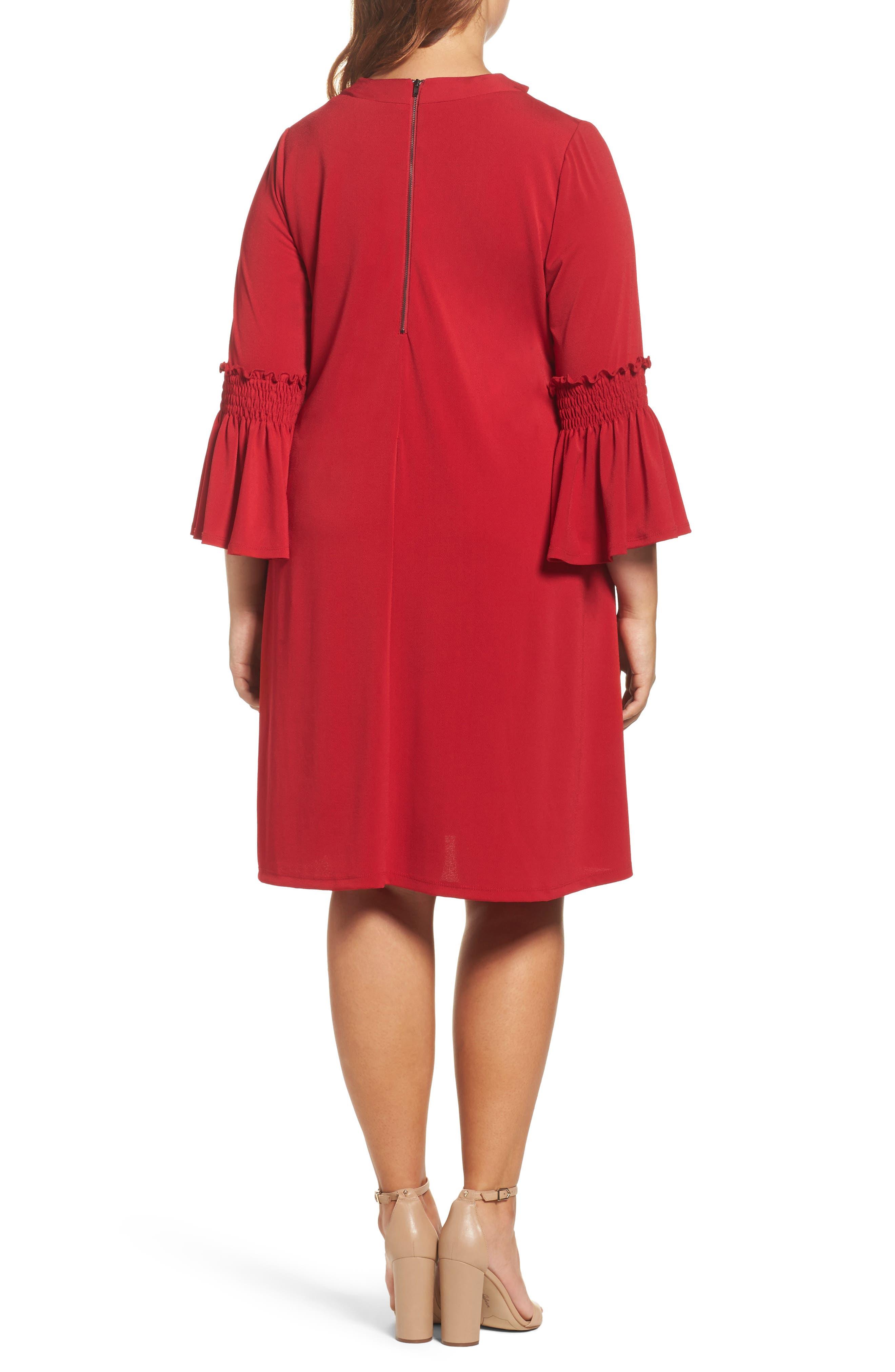 Alternate Image 2  - Gabby Skye Bell Sleeve A-Line Choker Dress (Plus Size)
