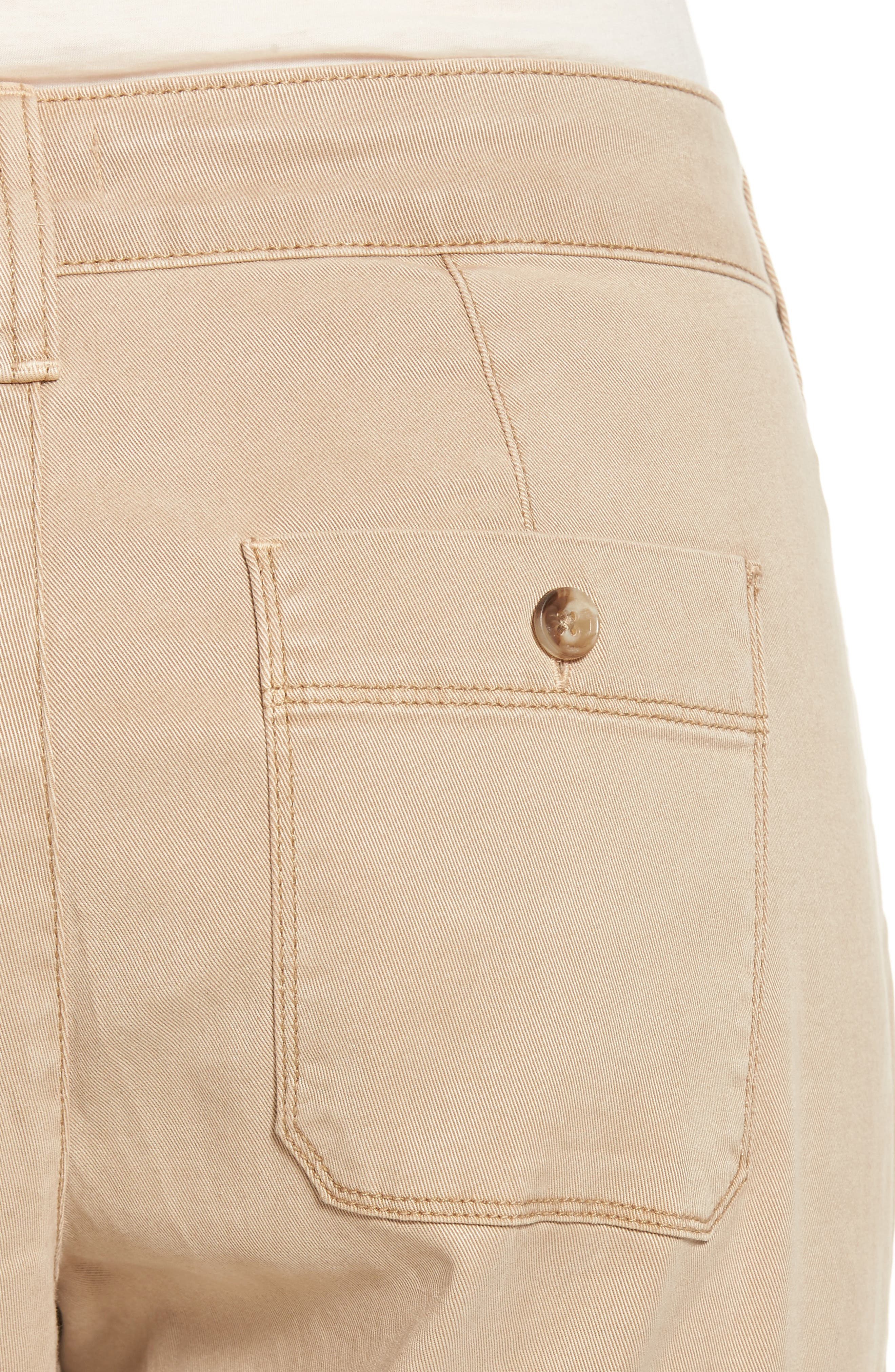 Reese Relaxed Chino Pants,                             Alternate thumbnail 4, color,                             Quicksand