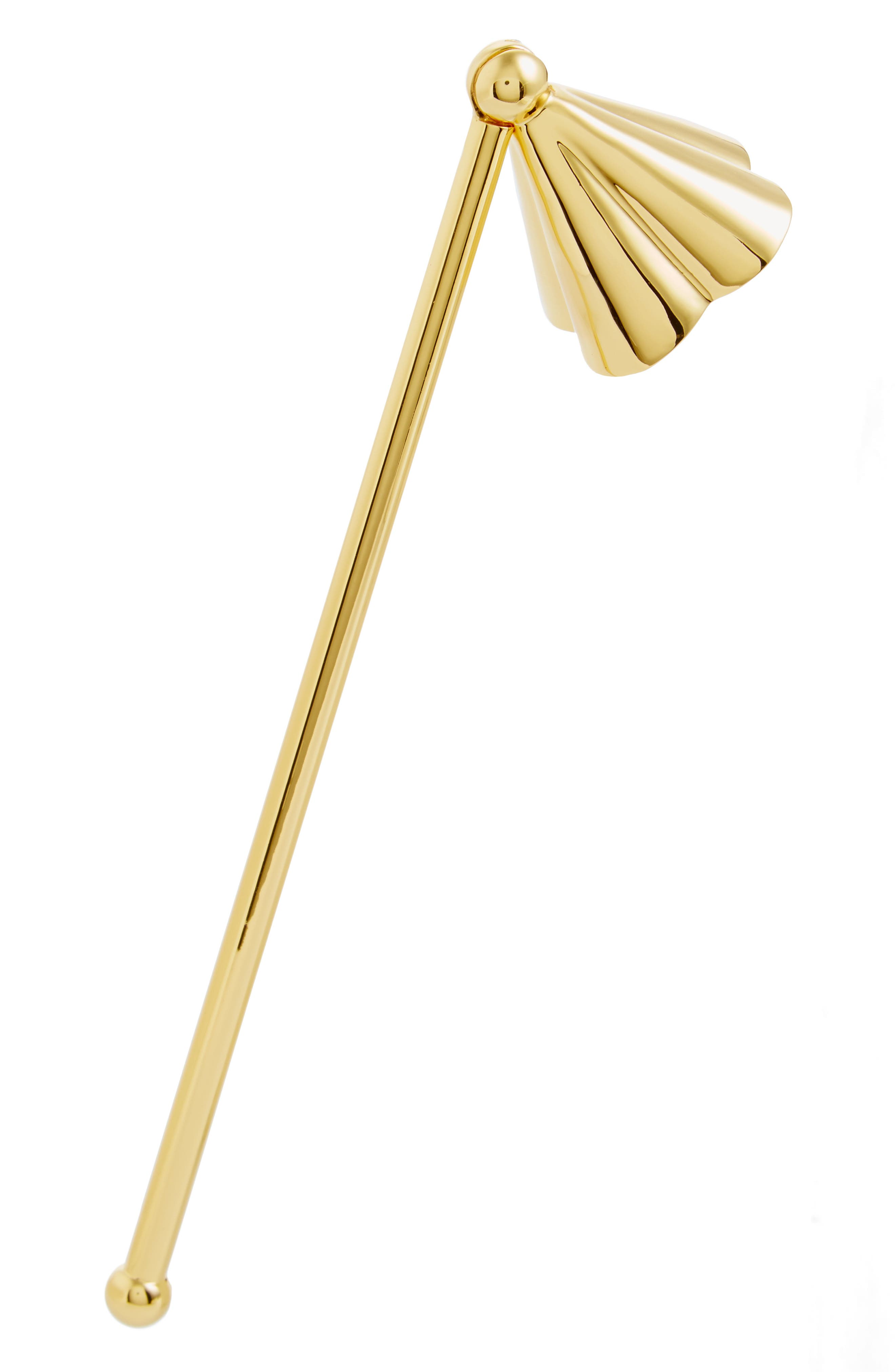 Petal Candle Snuffer,                         Main,                         color, Gold