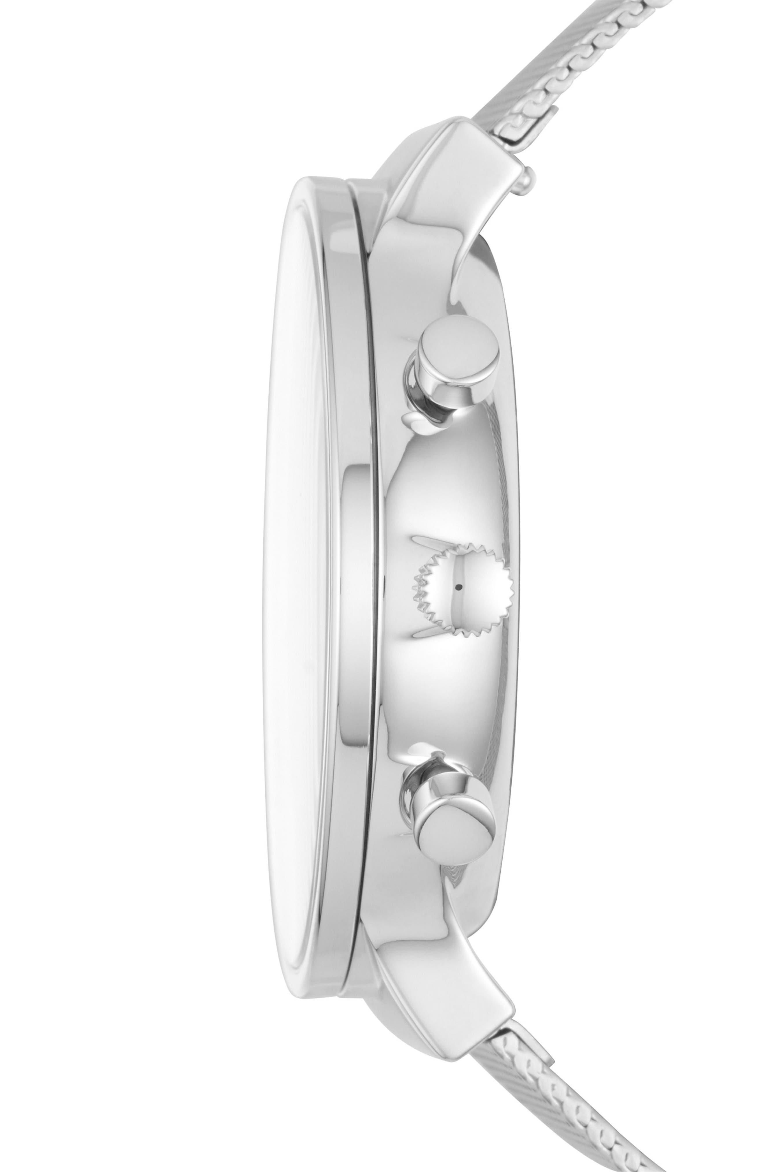 Jorn Mesh Strap Watch, 41mm,                             Alternate thumbnail 2, color,                             Silver/ Grey/ Silver