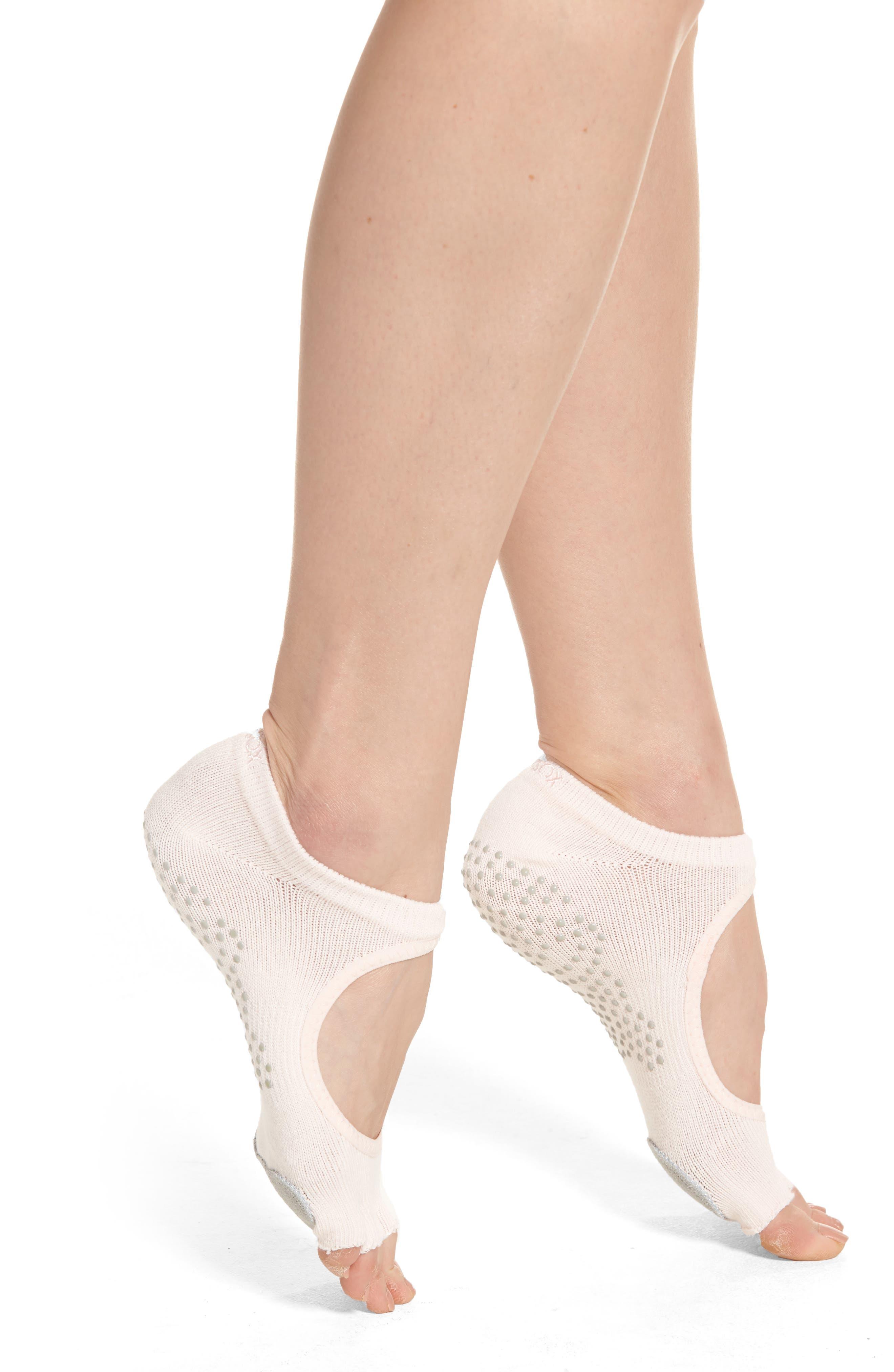 Alternate Image 1 Selected - ToeSox 'Dance Plié' Half-Toe Gripper Socks
