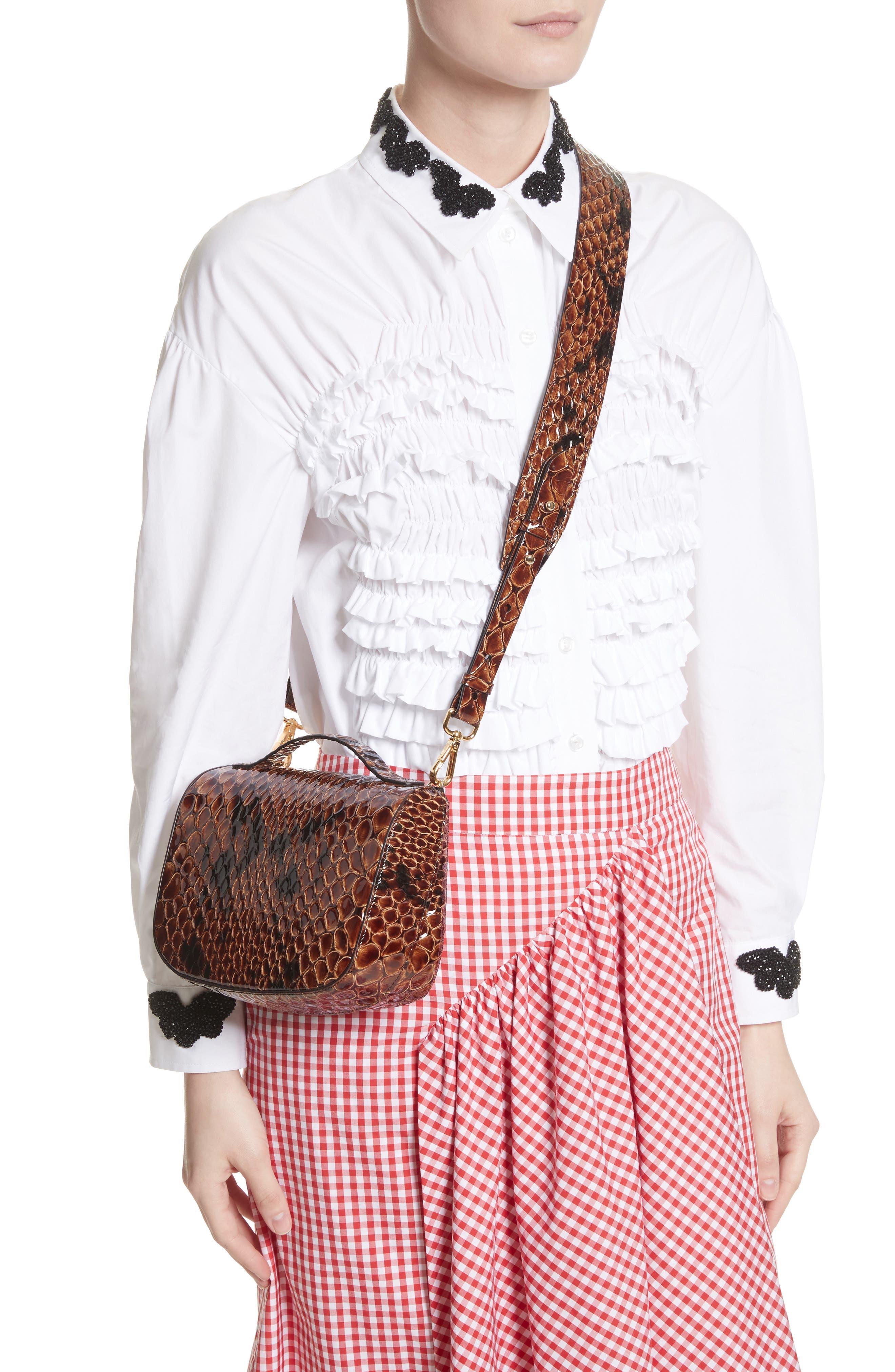 Alternate Image 2  - Simone Rocha Small Snake Embossed Leather Box Bag