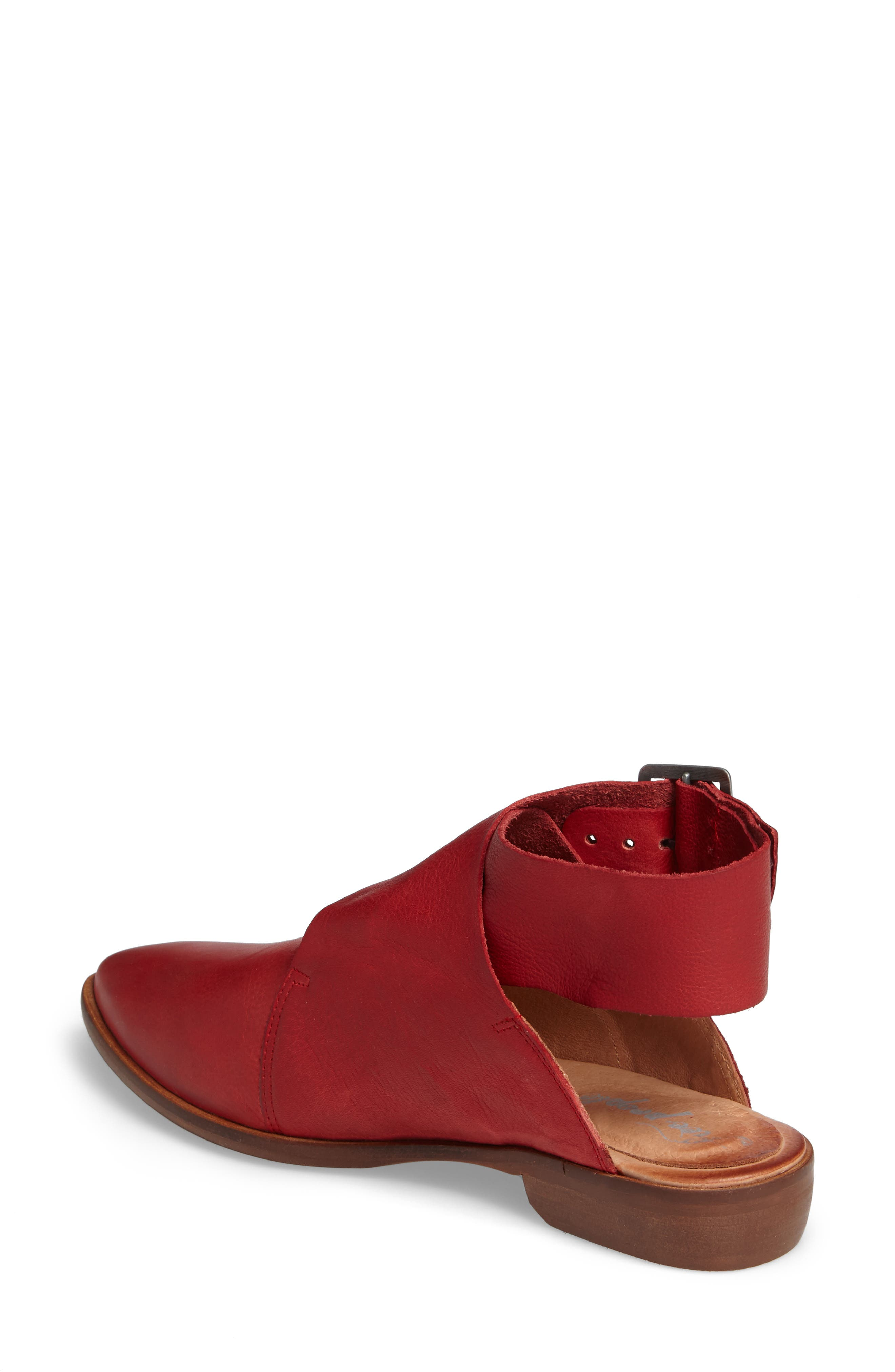 Bryce Buckle Wrap Flat,                             Alternate thumbnail 2, color,                             Red