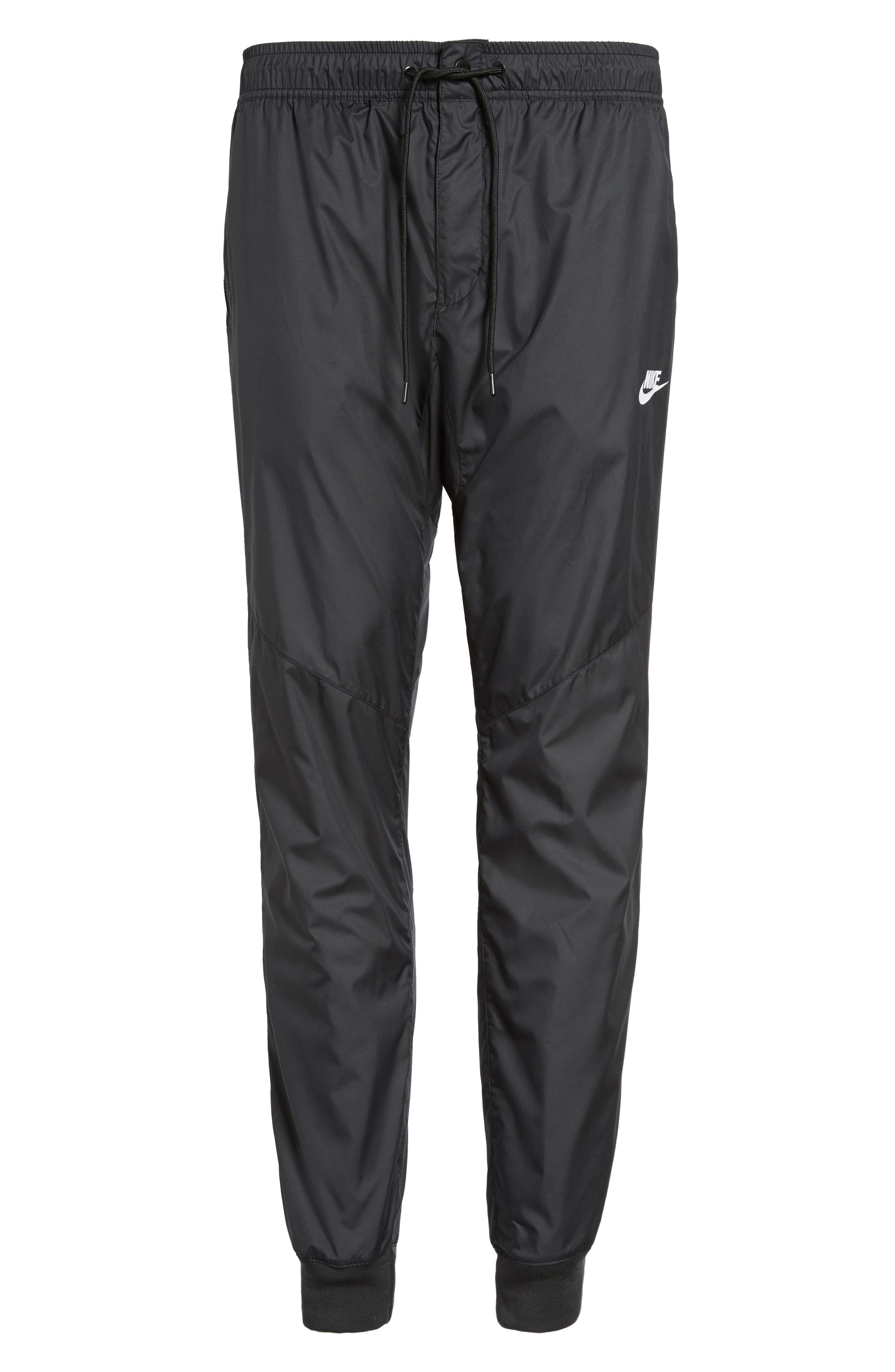 Windrunner Training Pants,                             Alternate thumbnail 6, color,                             Black/ Black/ Black/ White