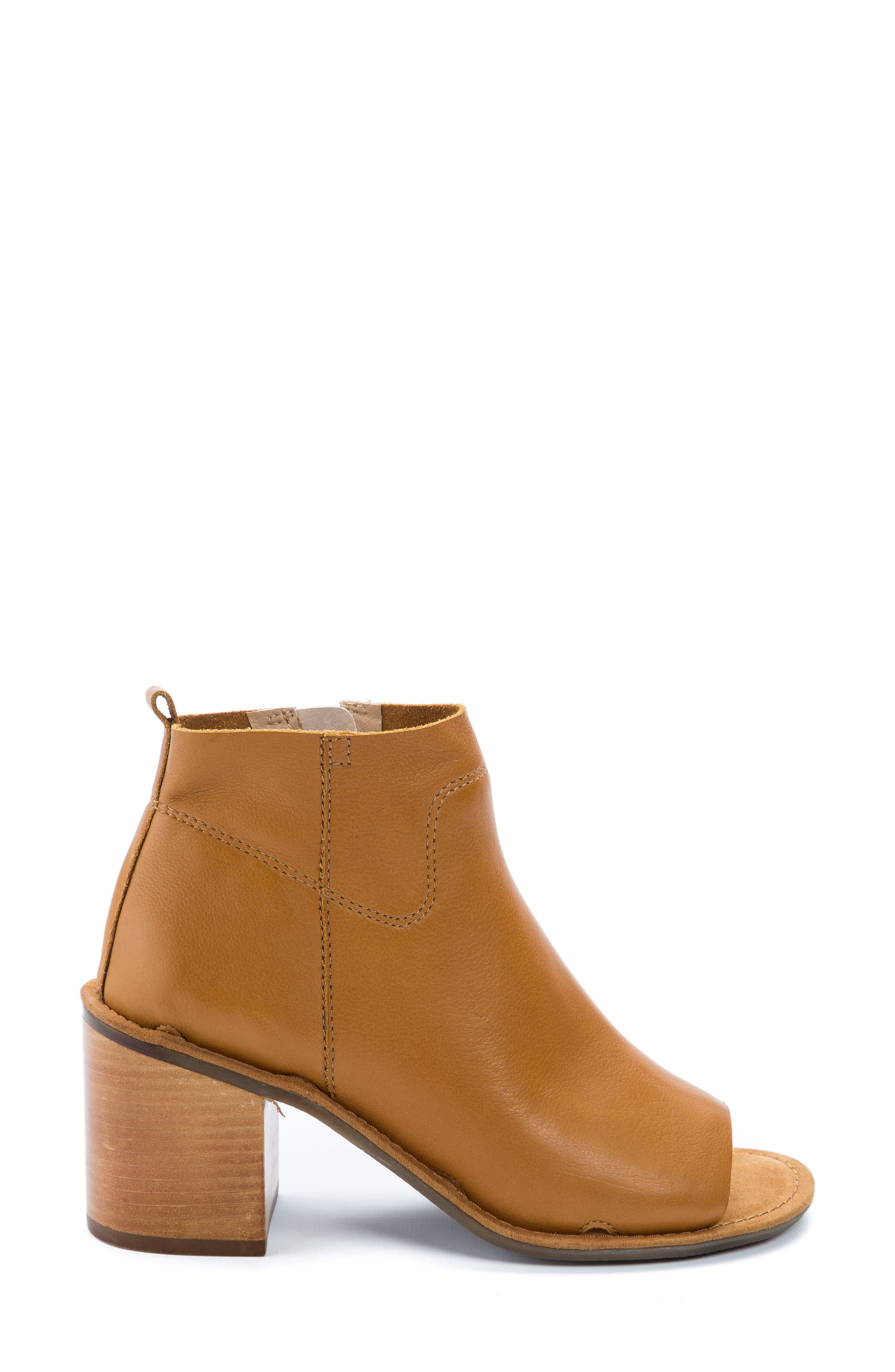 Vivvy Peep Toe Bootie,                             Alternate thumbnail 3, color,                             Amber