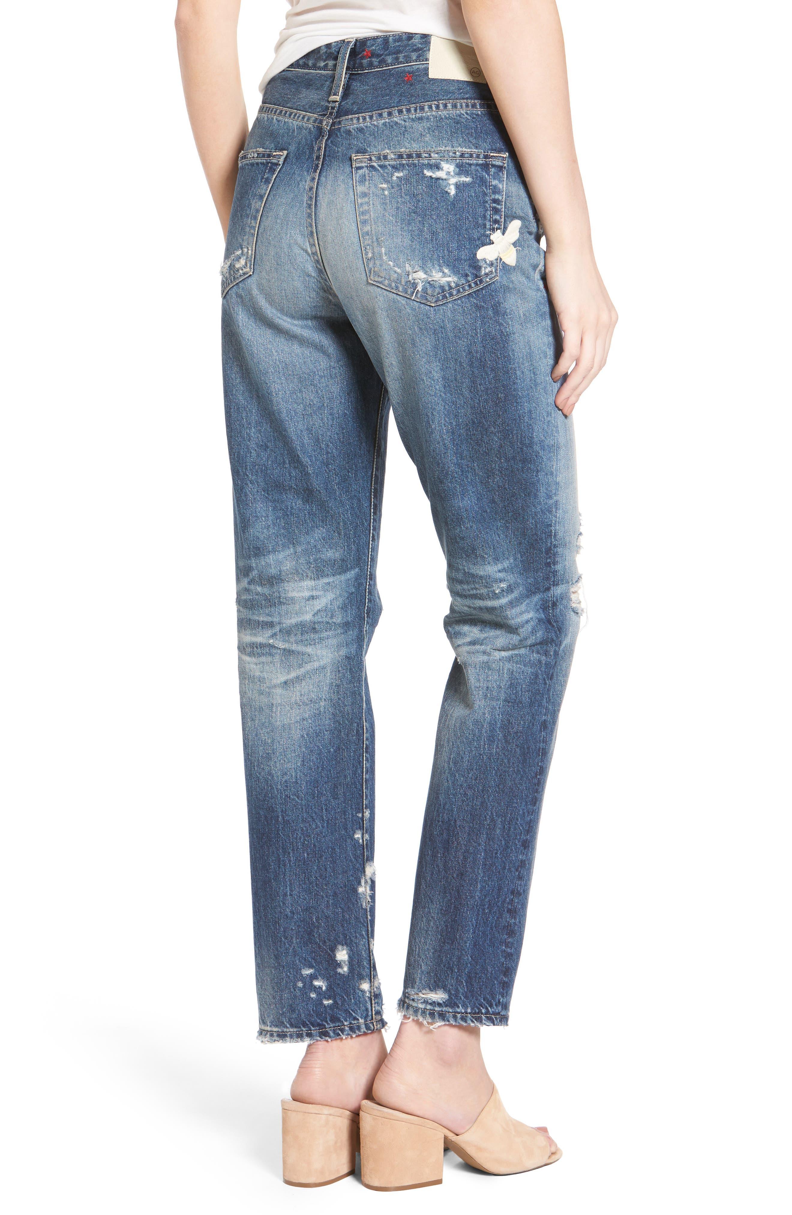 The Phoebe High Waist Straight Leg Jeans,                             Alternate thumbnail 2, color,                             23 Years Woven Dream