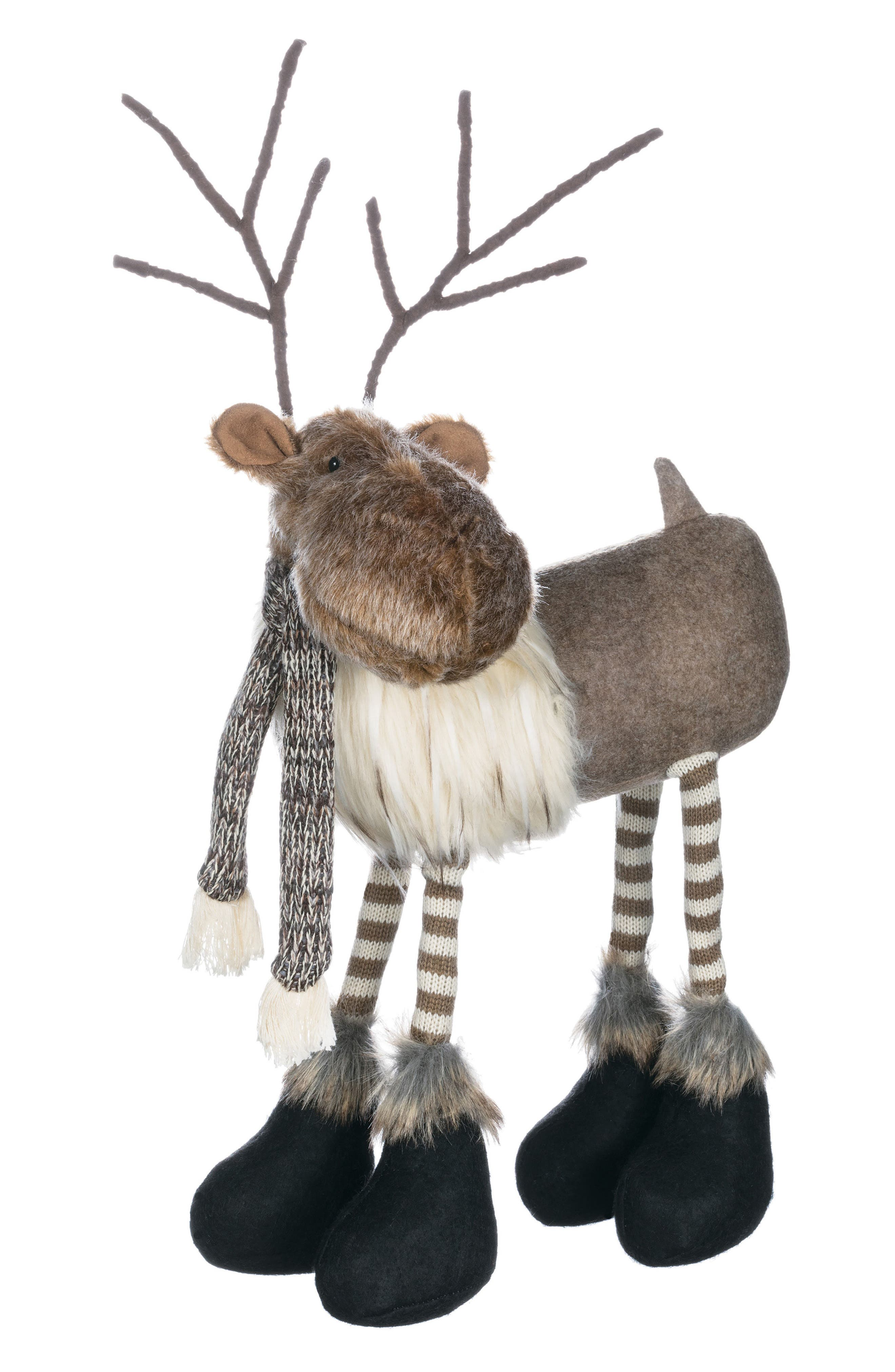 Standing Reindeer Decoration,                             Main thumbnail 1, color,                             Brown