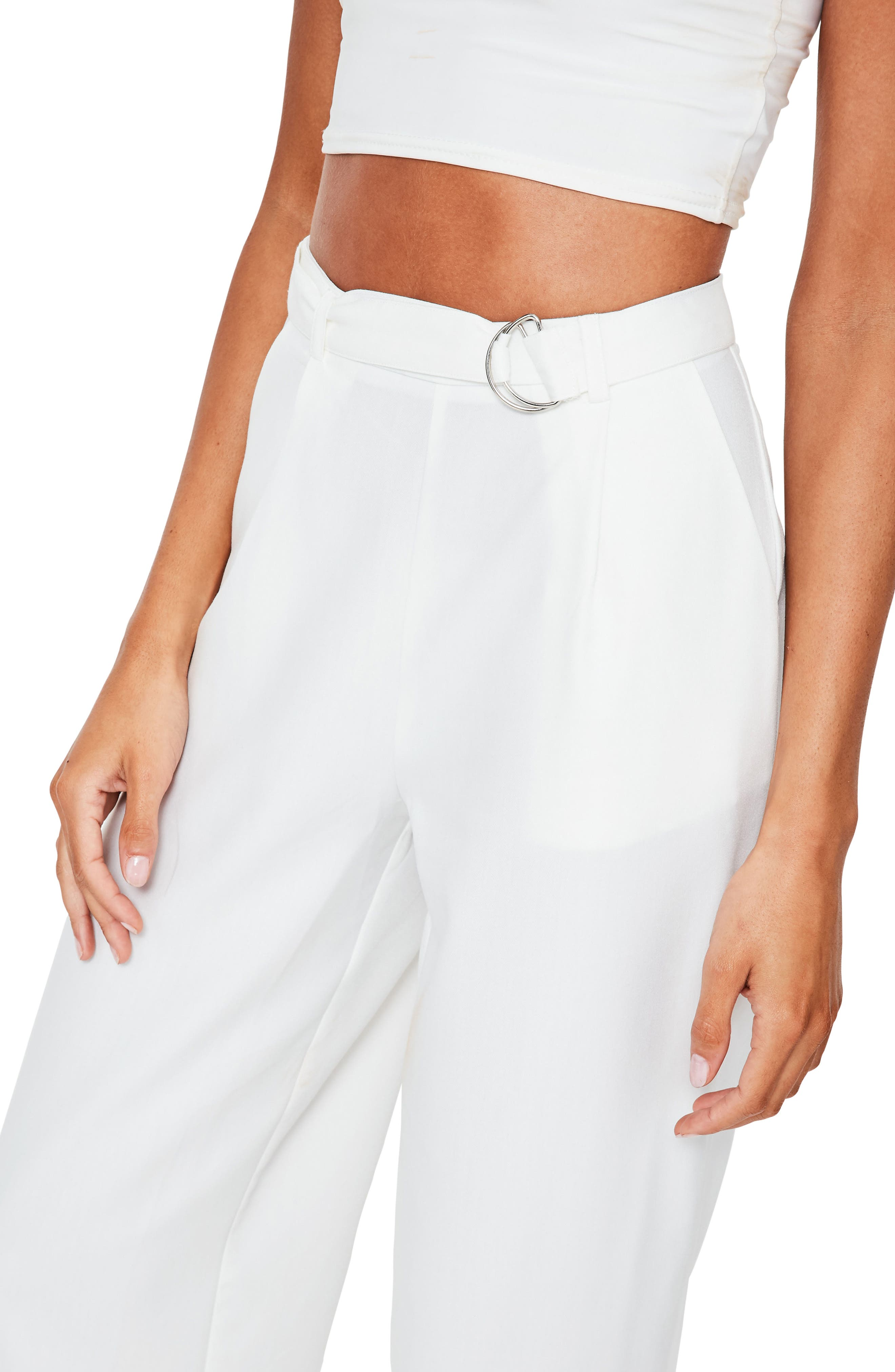 Alternate Image 3  - Missguided Wide Leg Trousers