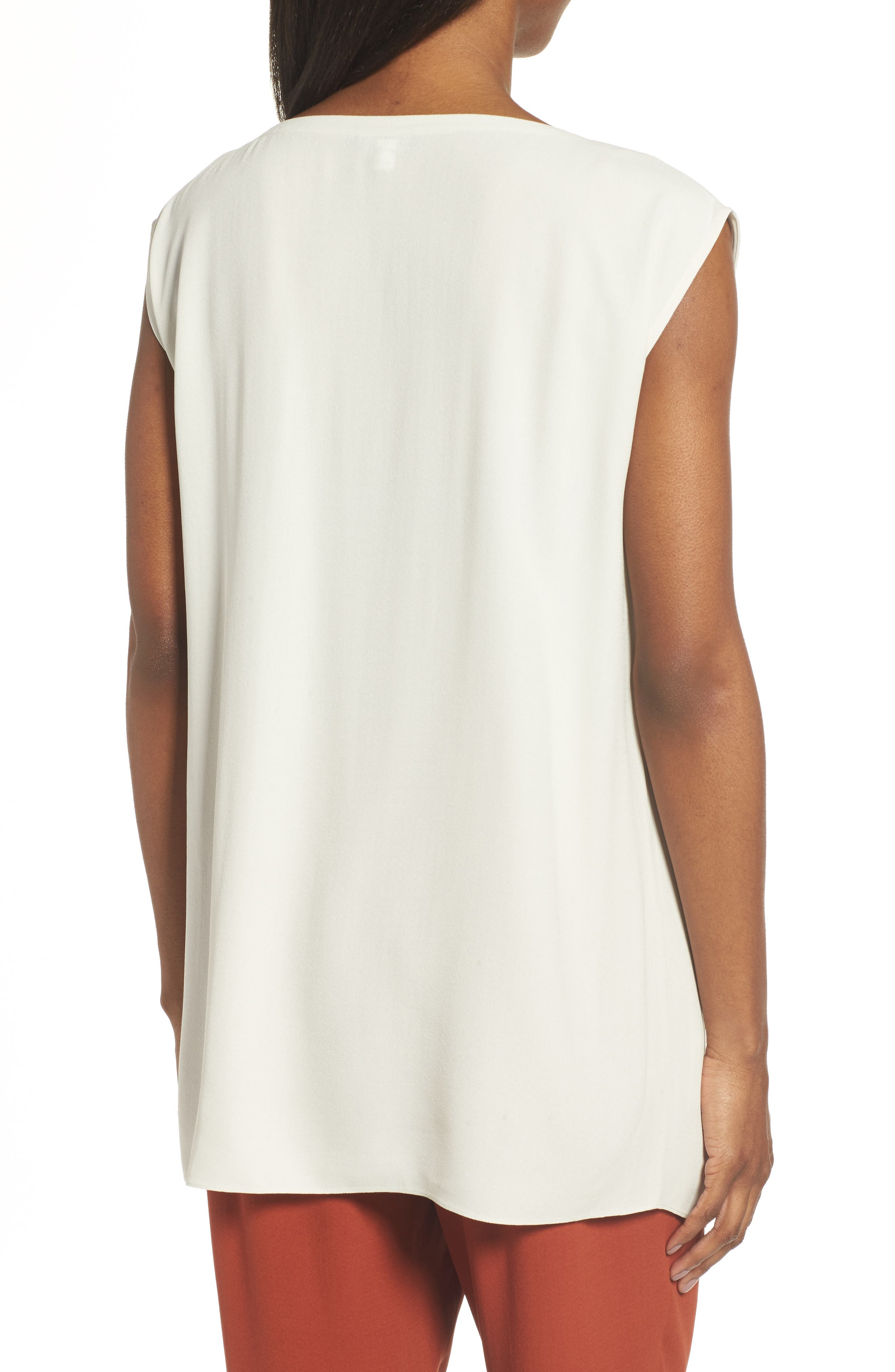 Alternate Image 2  - Eileen Fisher Asymmetrical Silk Tunic (Regular & Petite)