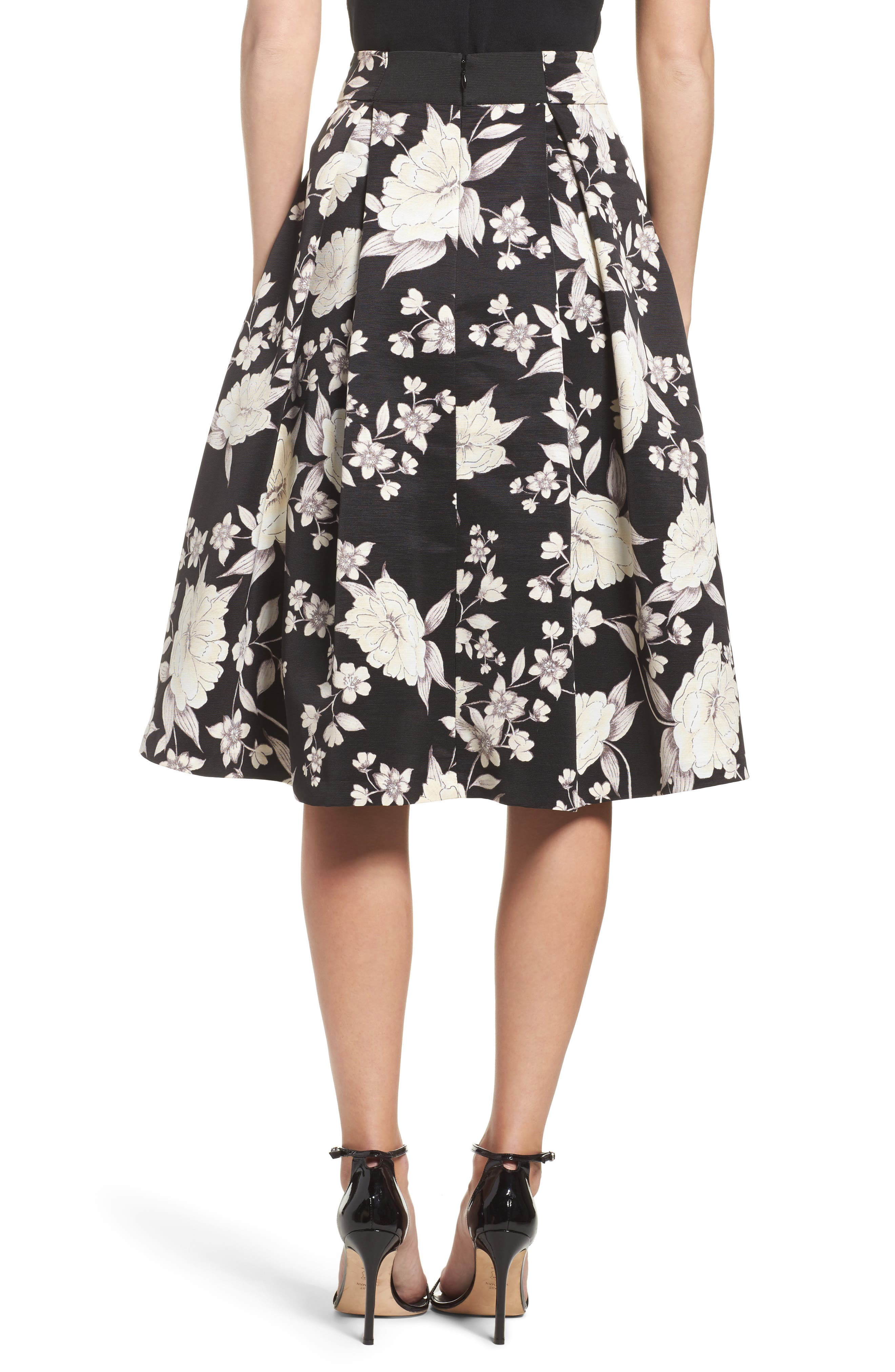 Alternate Image 2  - Eliza J Floral Print Midi Skirt