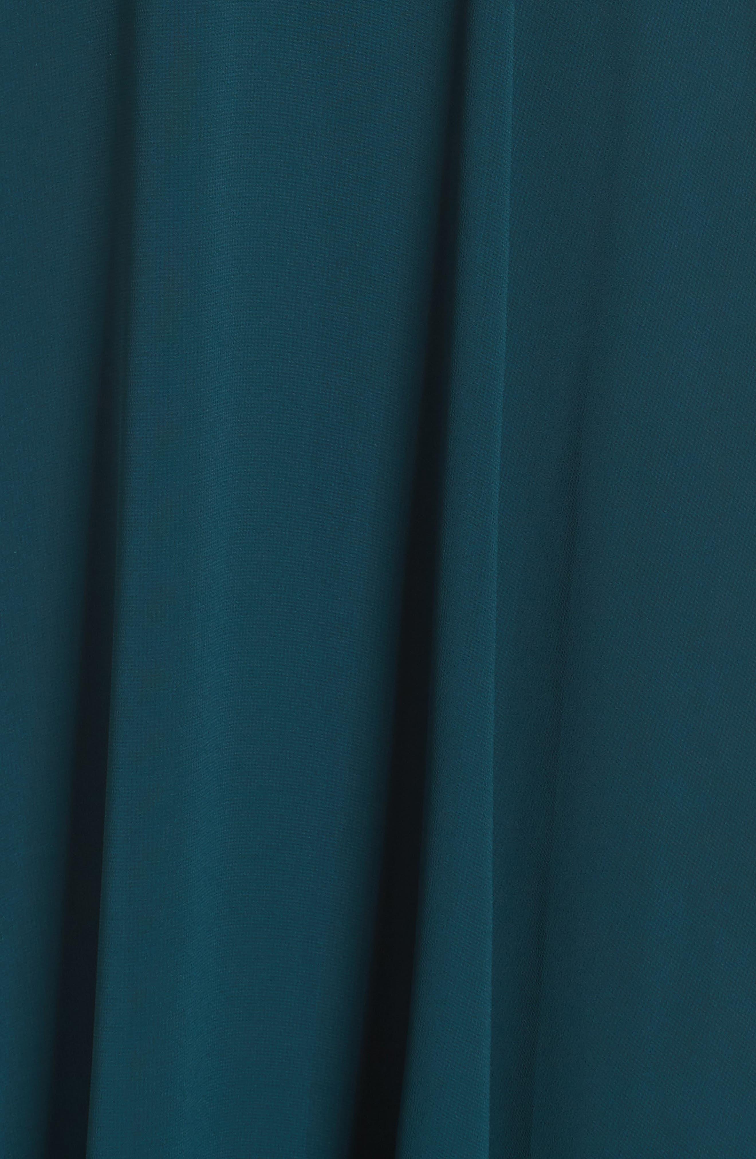Alternate Image 5  - Jenny Yoo Cold Shoulder Chiffon Gown