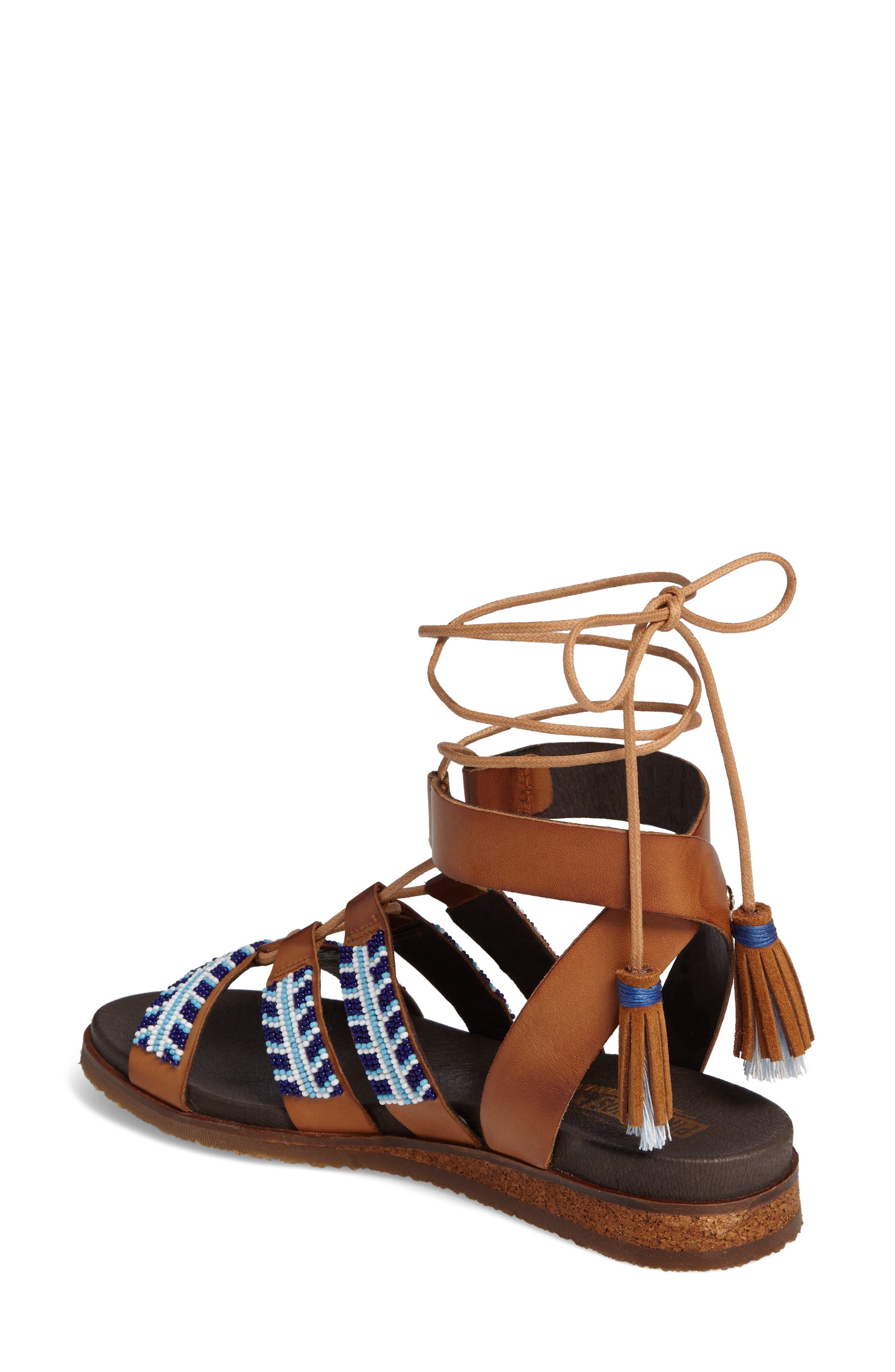 Alternate Image 2  - PIKOLINOS Antillas Beaded Ghillie Sandal (Women)
